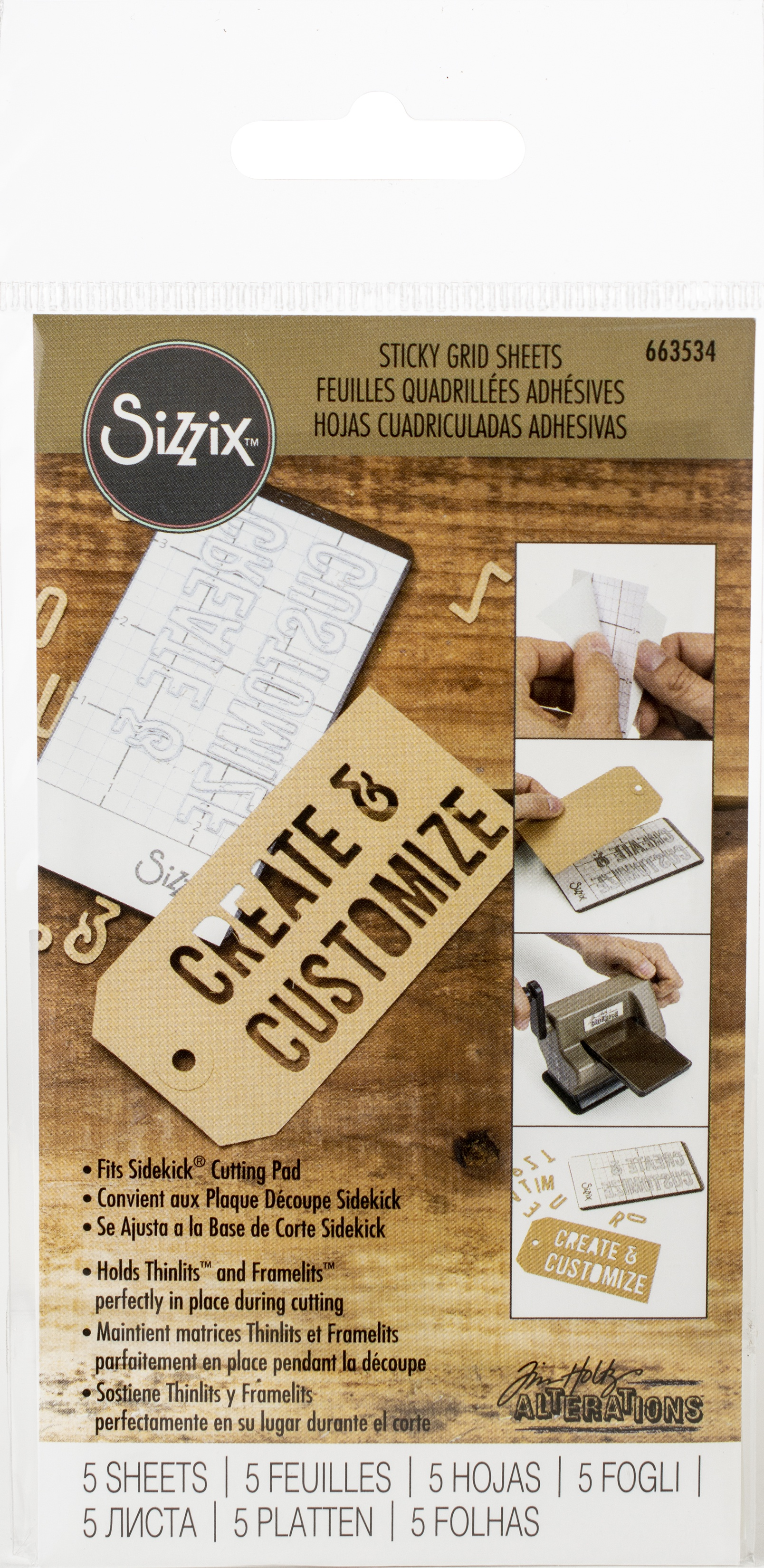 Tim Holtz Sticky Grid Sheets 5/pack