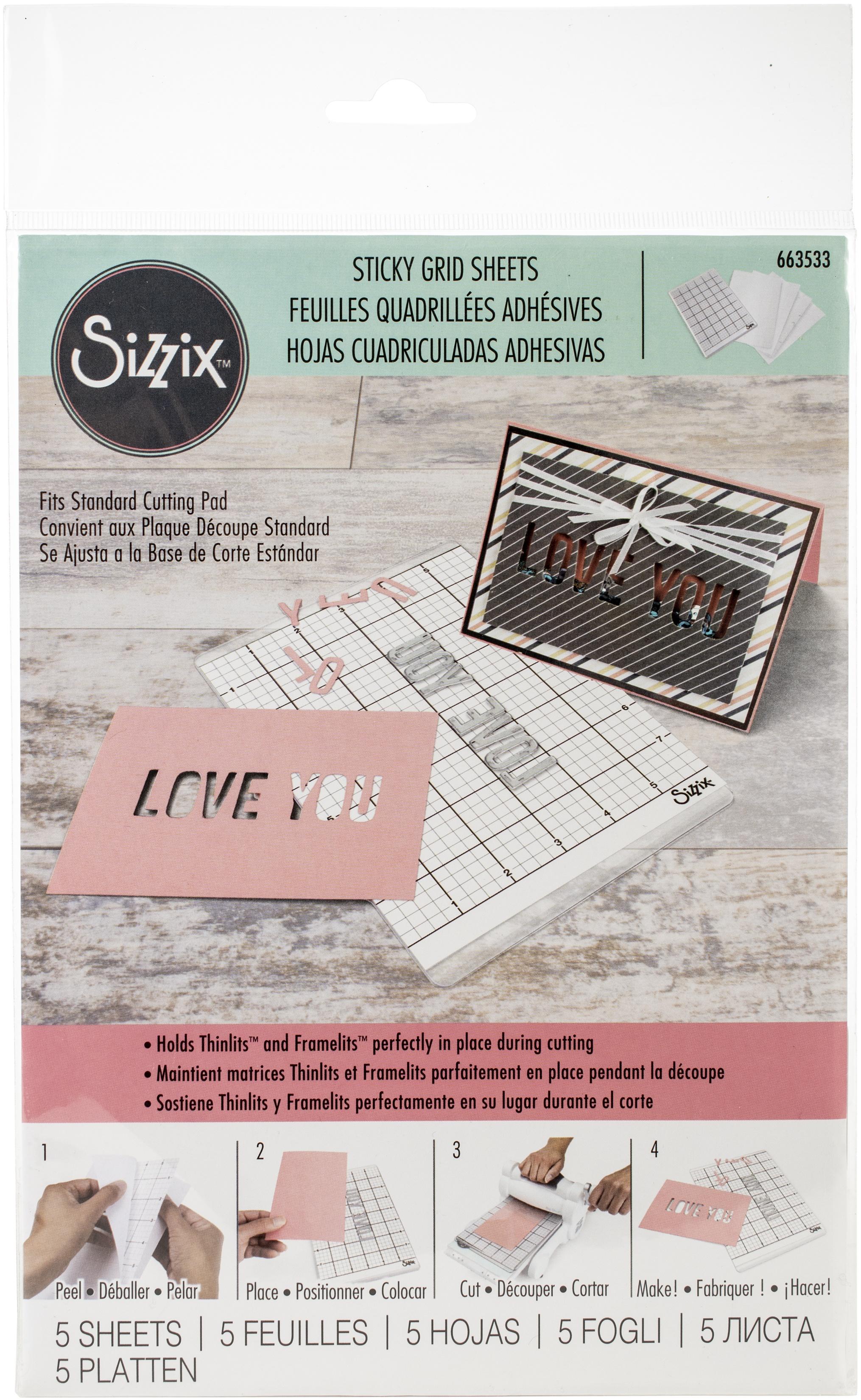 Sizzix Big Shot Sticky Grid 6X8.5 5/Pkg-