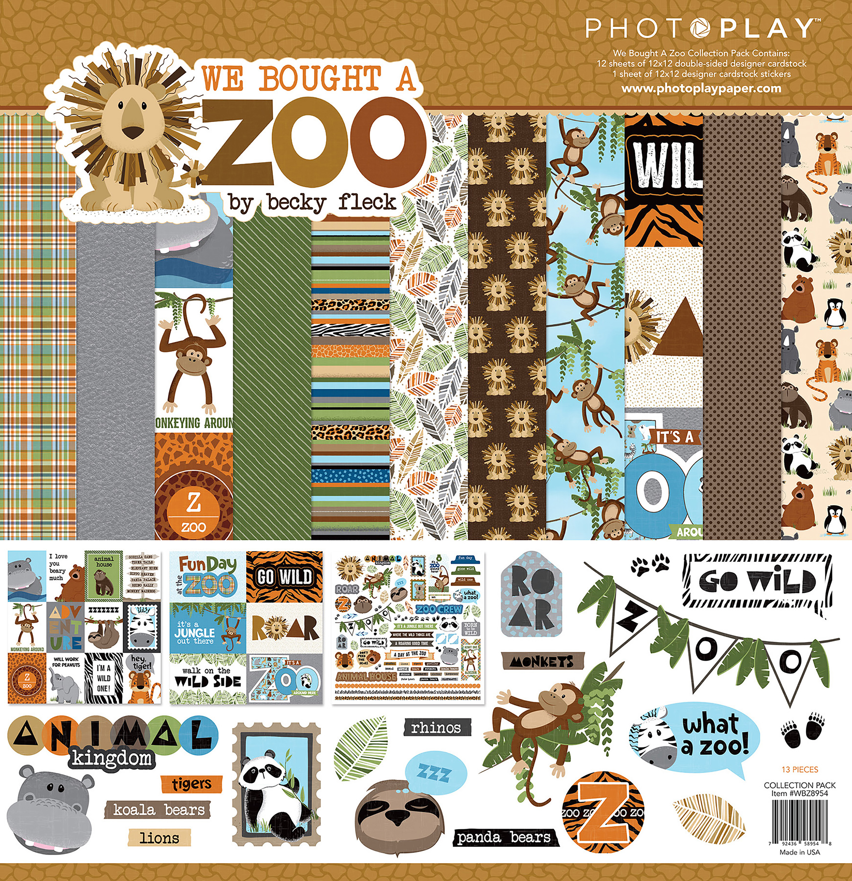 PhotoPlay Collection Pack 12X12-We Bought A Zoo