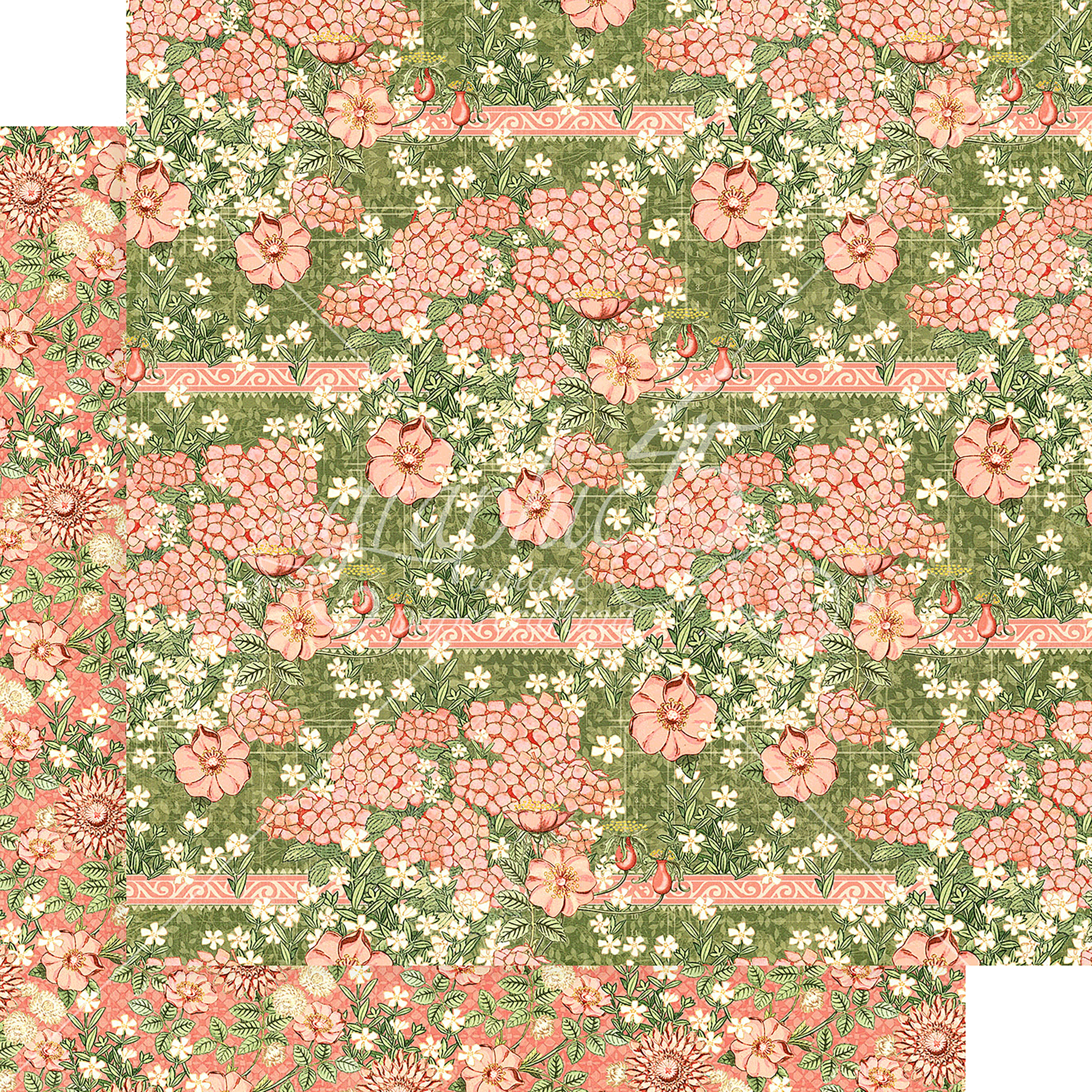Garden Goddess - Fields of Flowers - 12x12 Double-Sided Cardstock (Graphic 45)