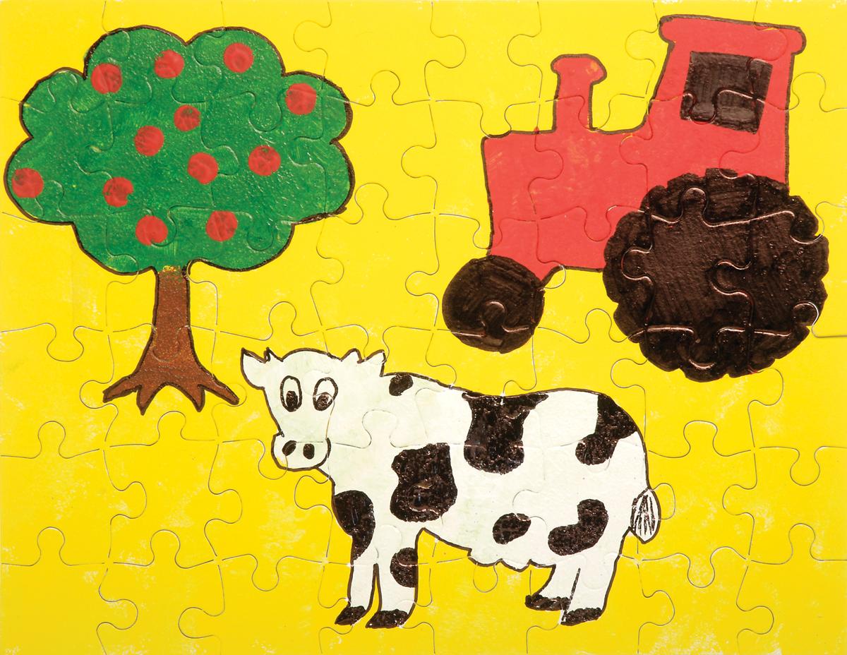 Color Your Own Puzzle 48 Pieces 8.5X11 -