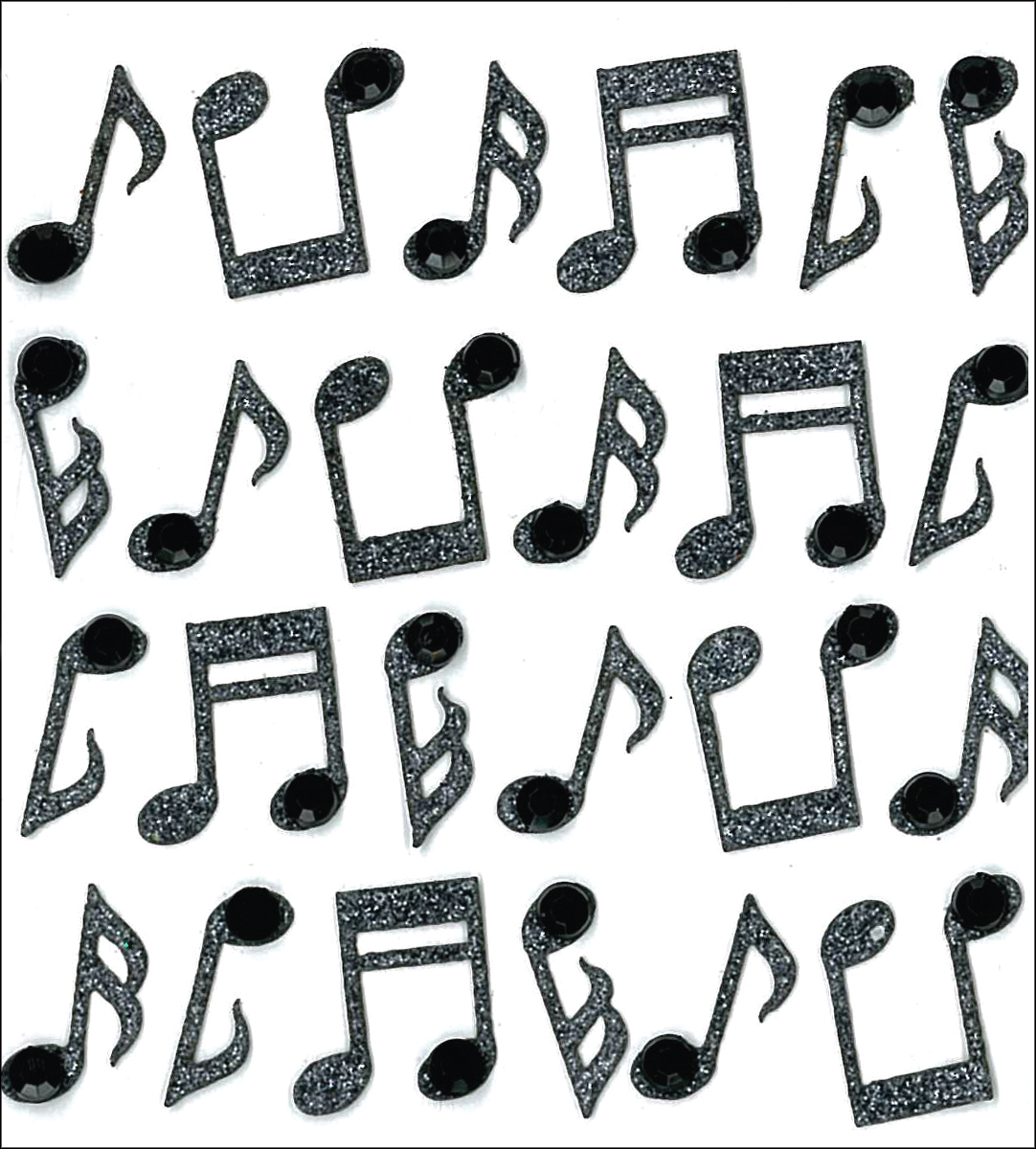 Jolee's Cabochon Dimensional Repeat Stickers-Music Notes