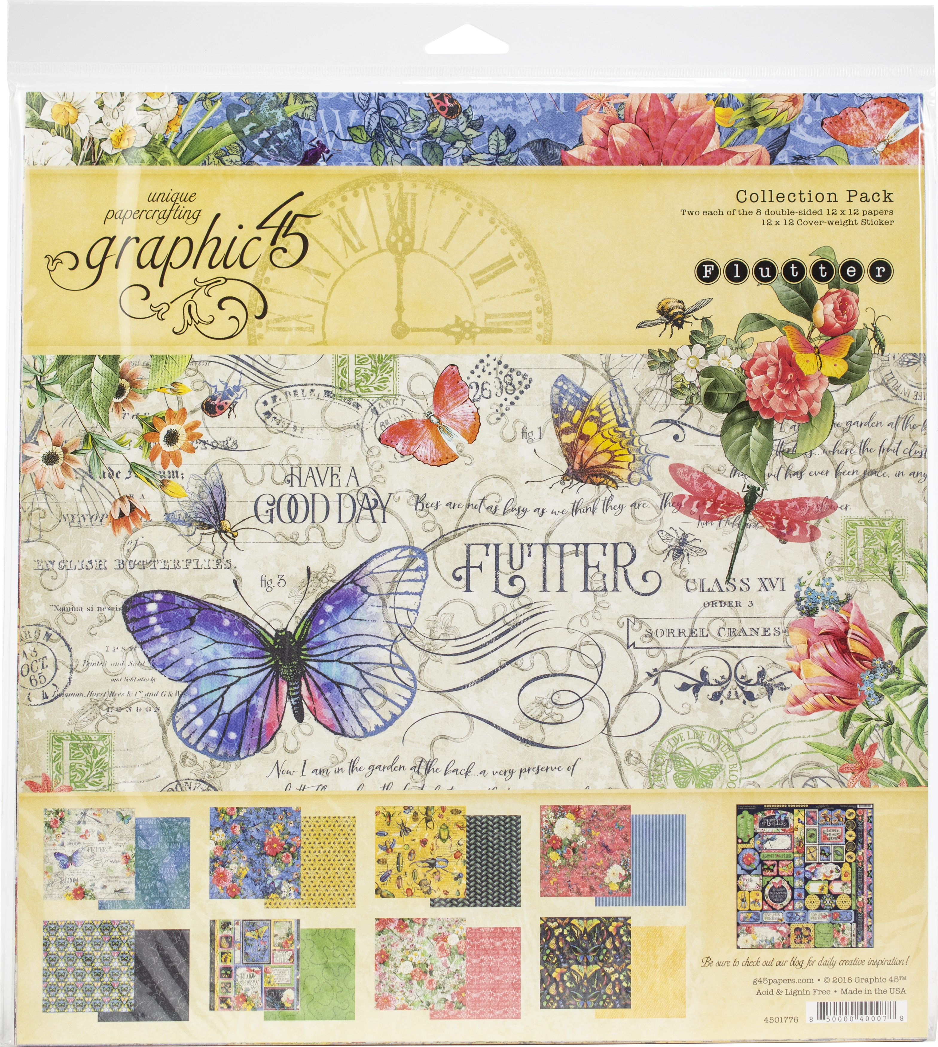 Graphic 45 Collection Pack 12X12-Flutter