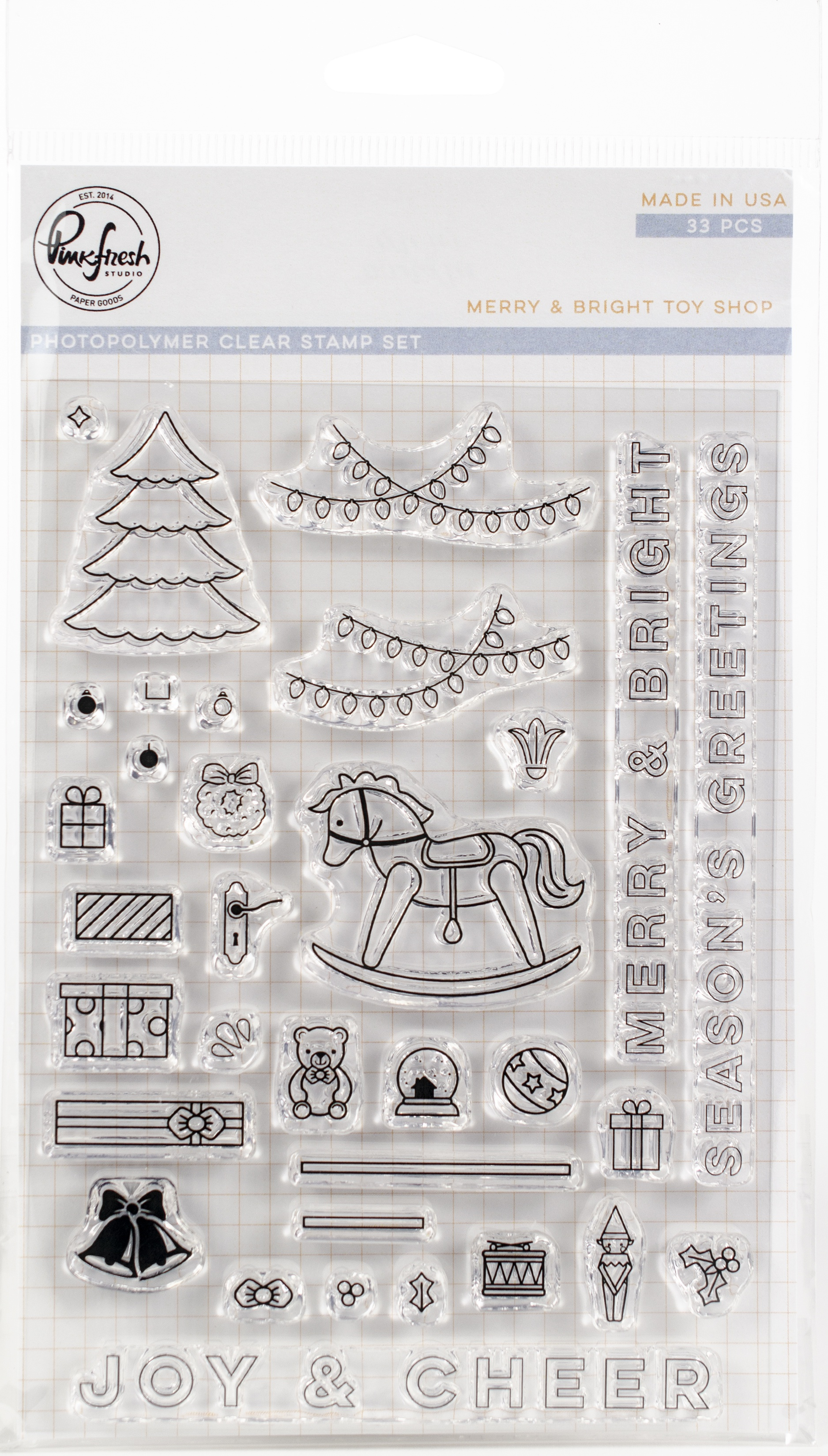 Pinkfresh Studio Clear Stamp Set 4X6-Merry & Bright Toy Shop