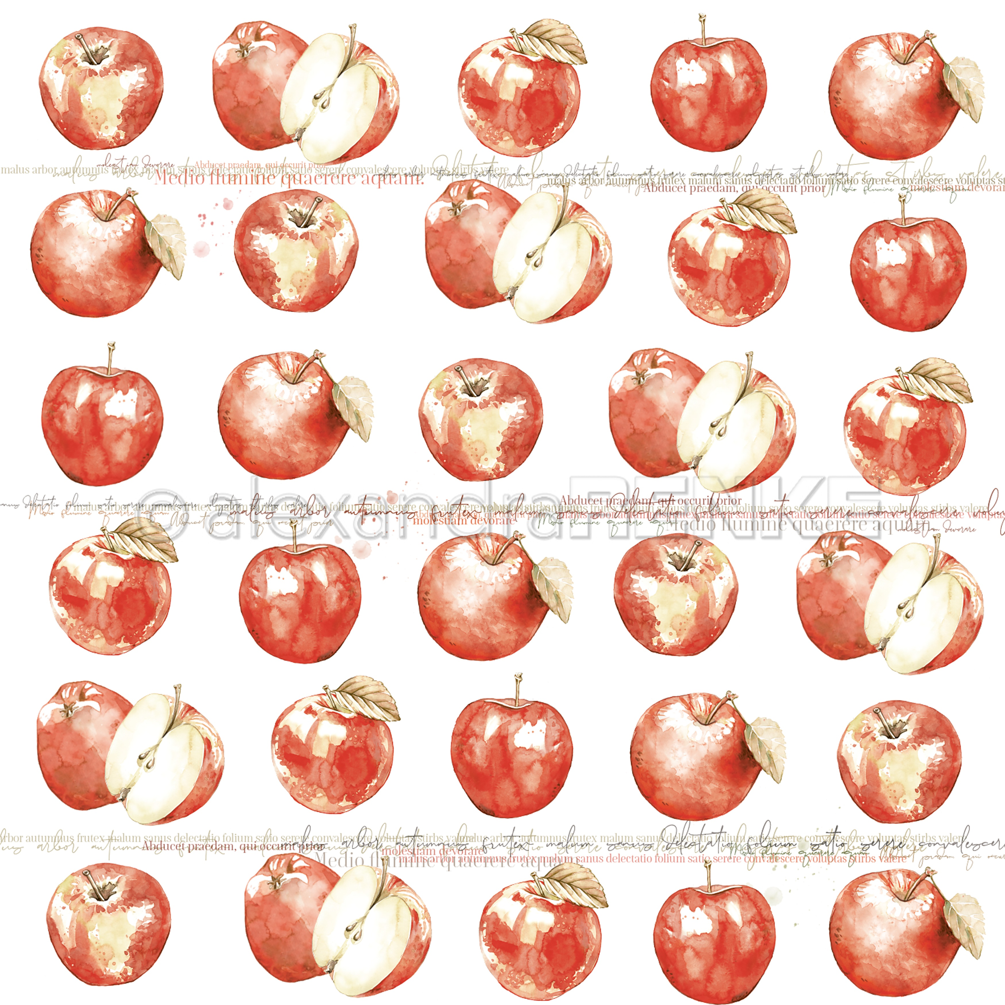 Alexandra Renke Colors Of Autumn Design Paper 12X12-Apple Rapport