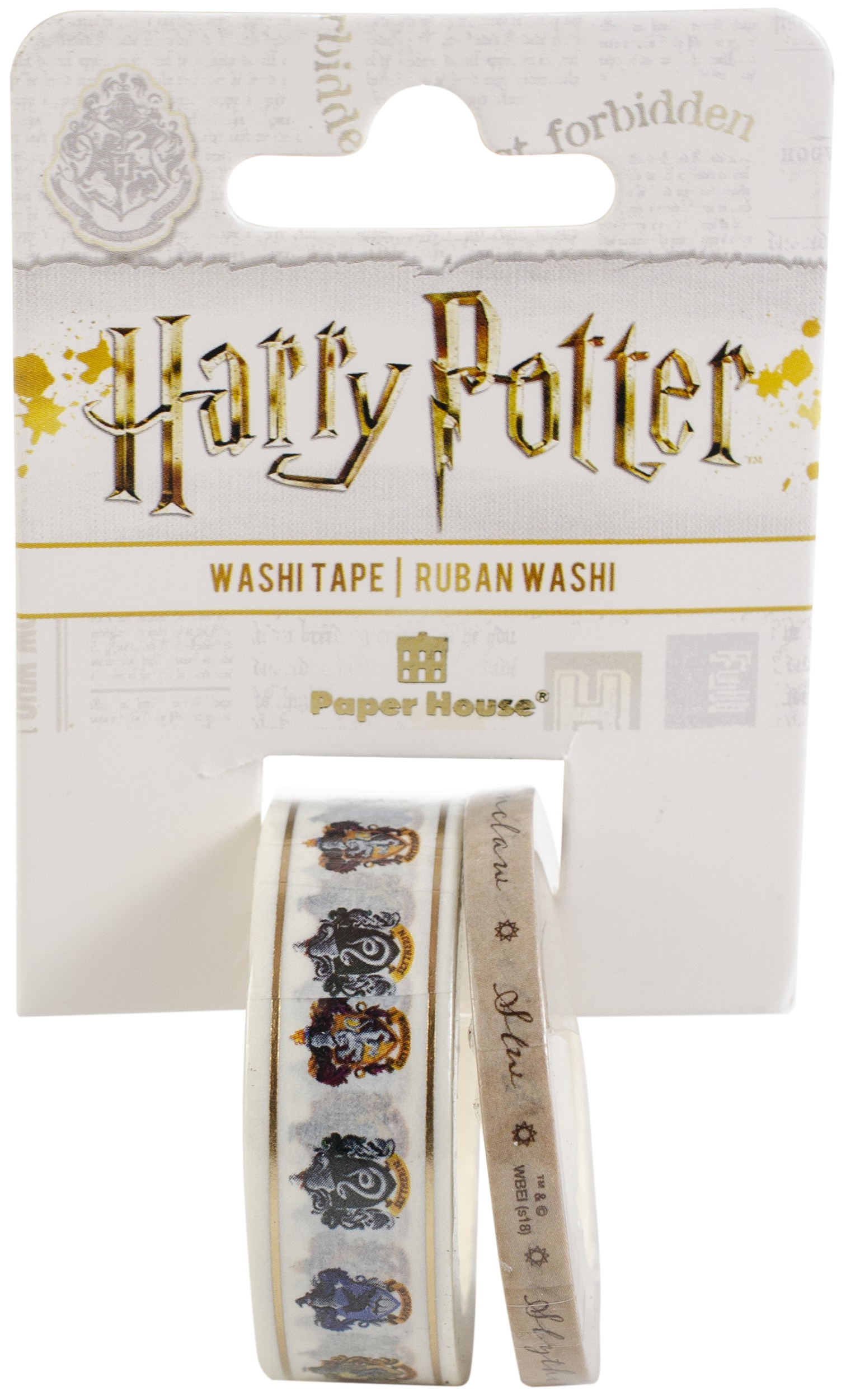 Paper House Washi Tape - Harry Potter, House Crests