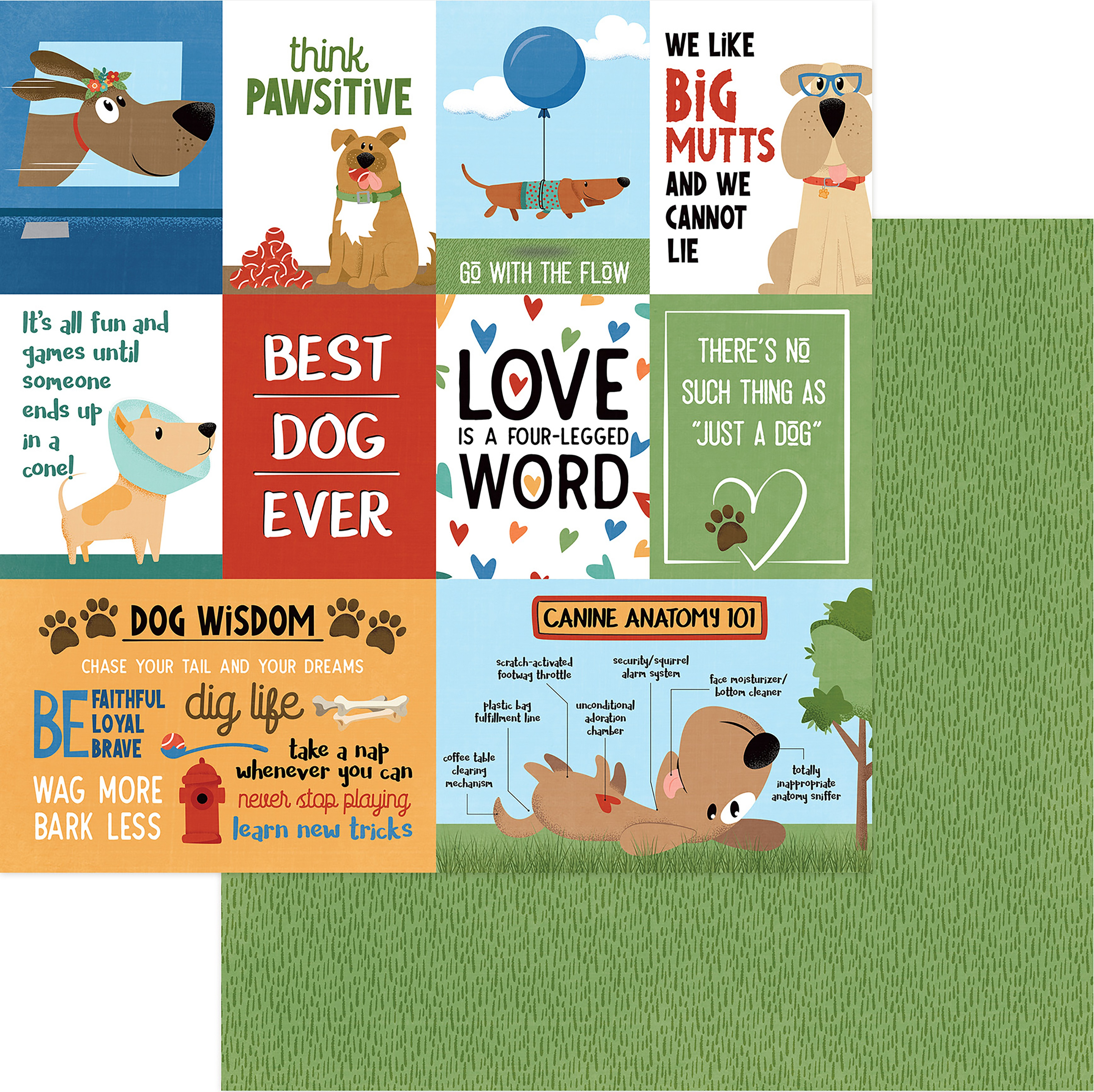Fetch Double-Sided Cardstock 12X12-Best Dog Ever