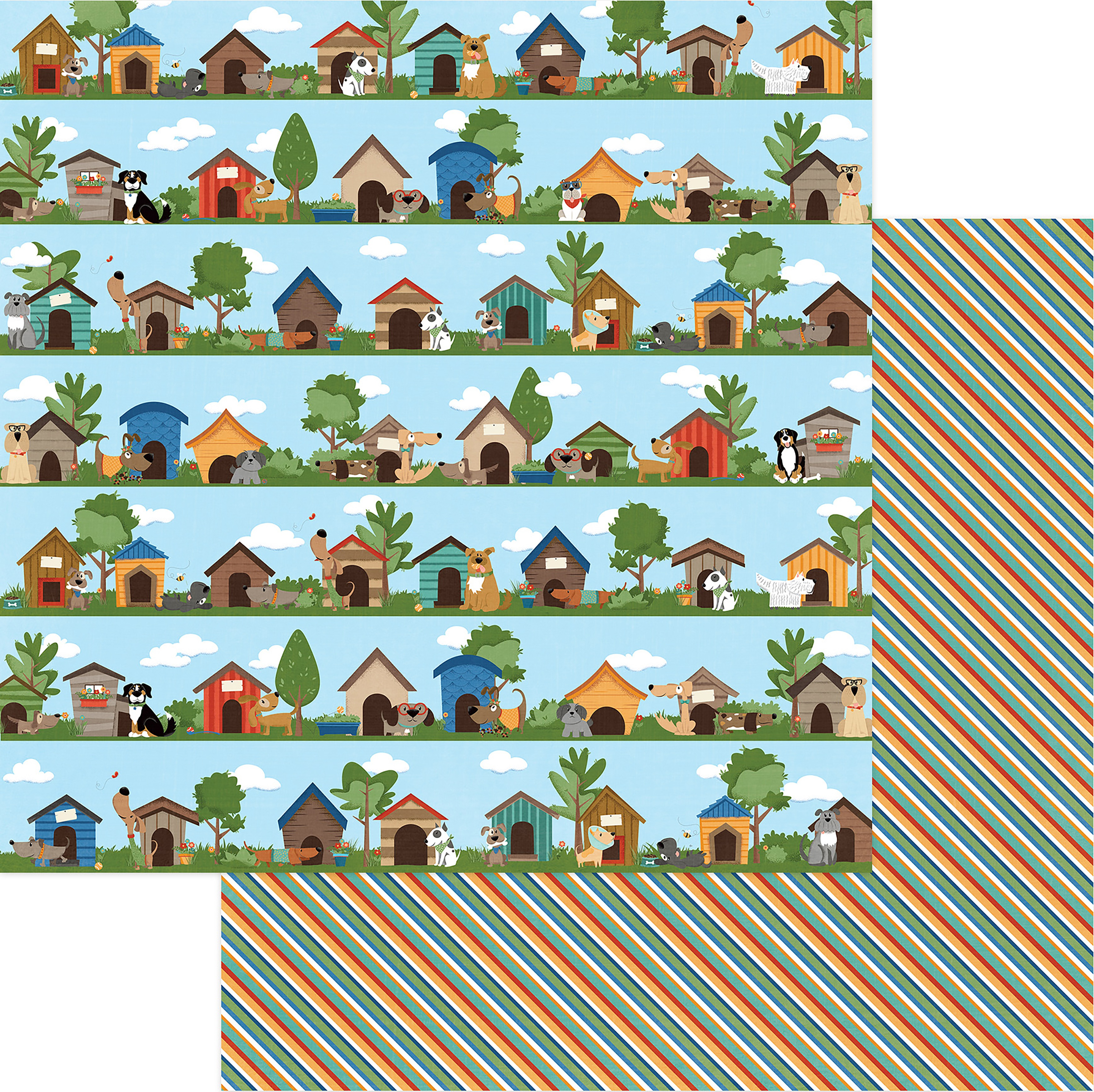 Fetch Double-Sided Cardstock 12X12-In The Dog House