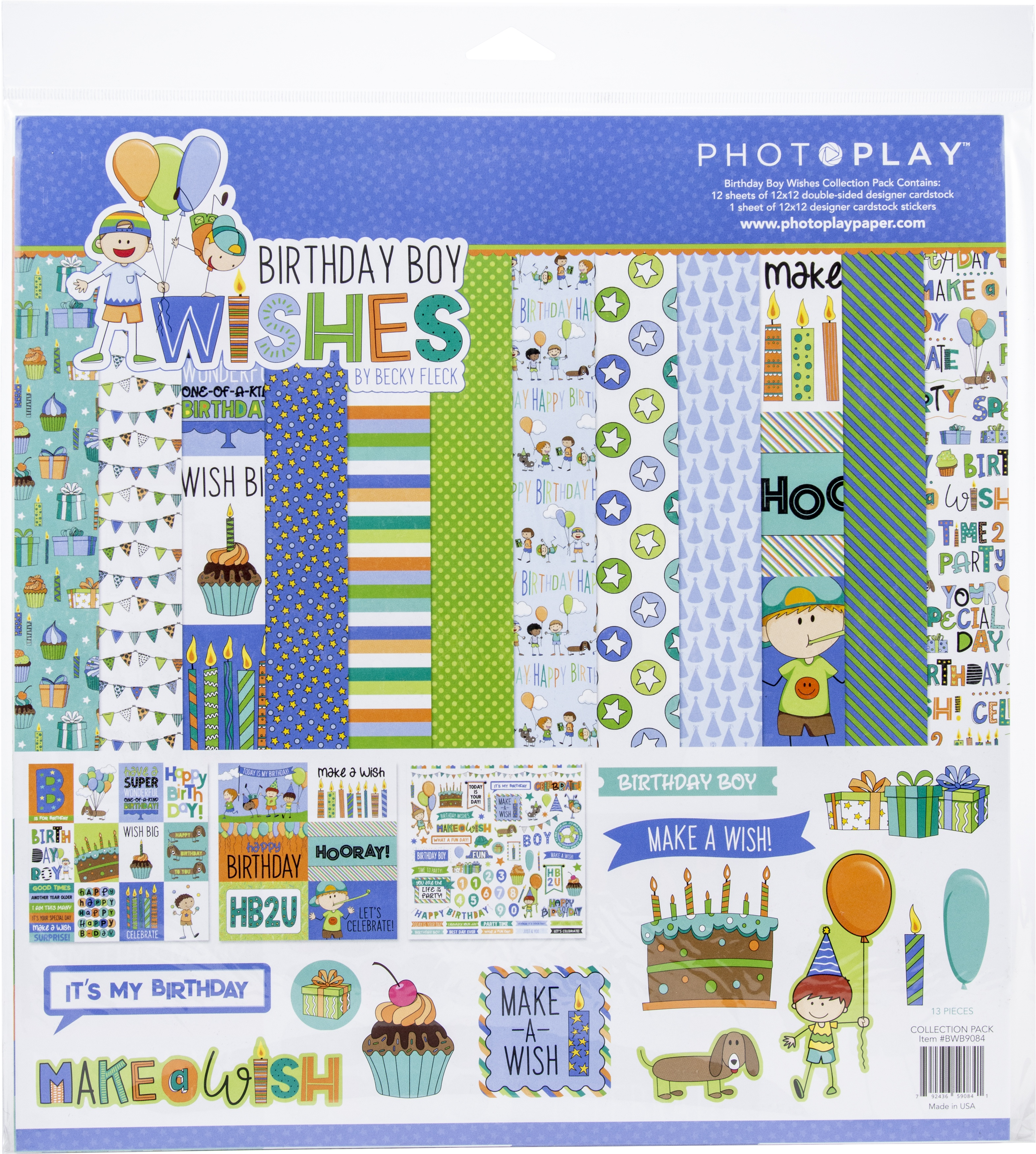 PhotoPlay Collection Pack 12X12-Birthday Boy Wishes