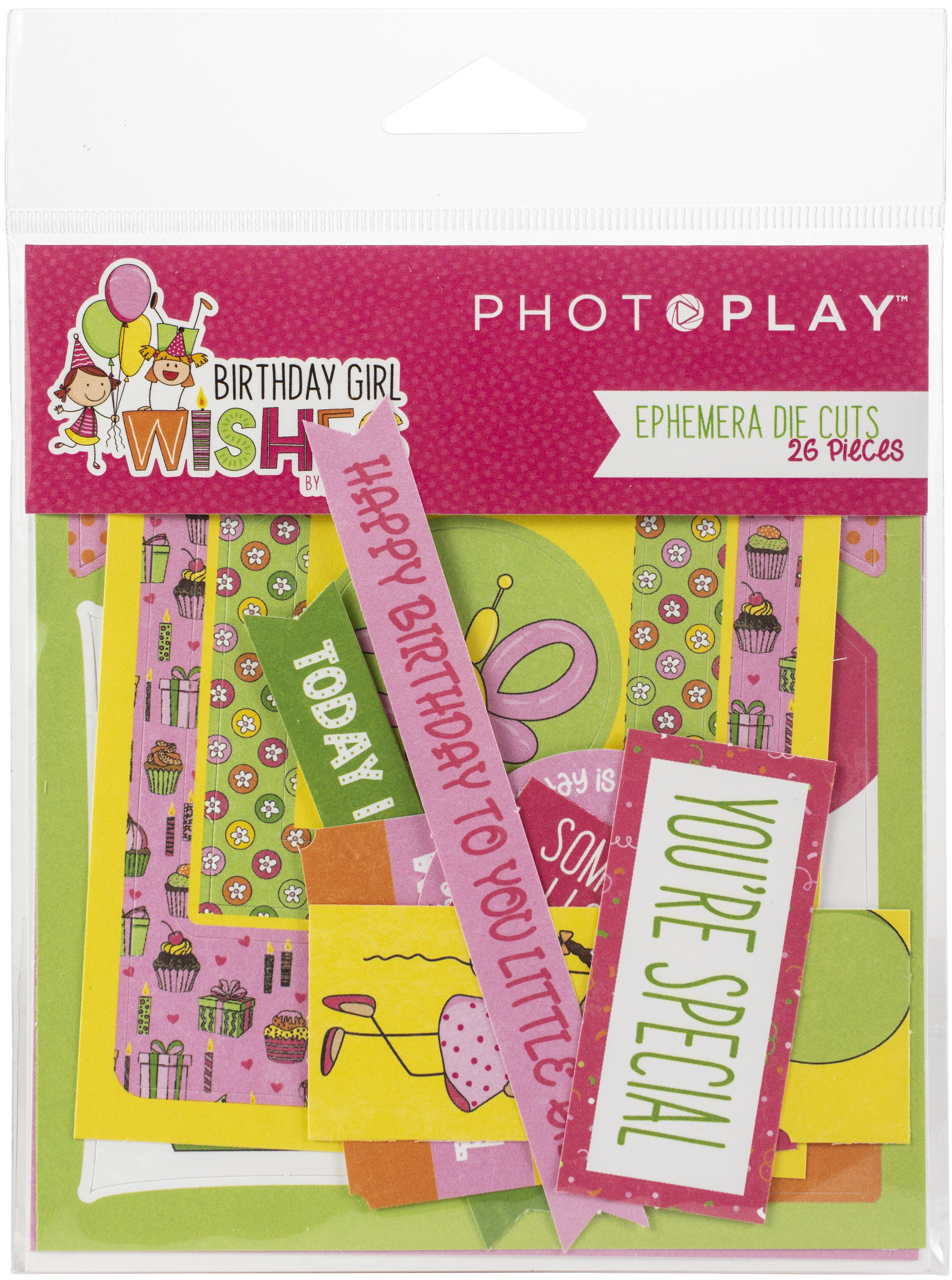 Birthday Girl Wishes Ephemera Cardstock Die-Cuts 26/Pkg-