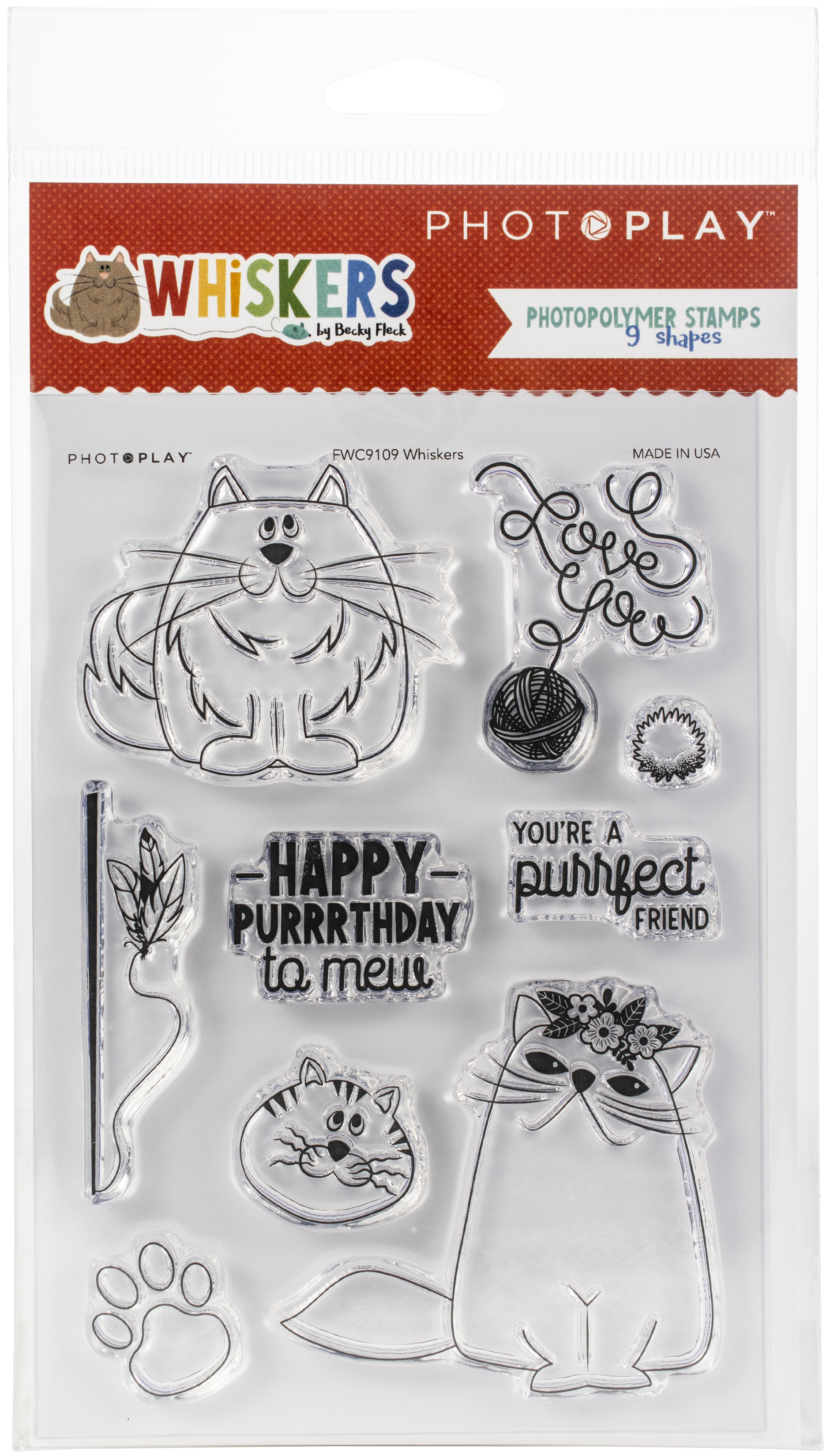 PhotoPlay Photopolymer Stamp-Whiskers