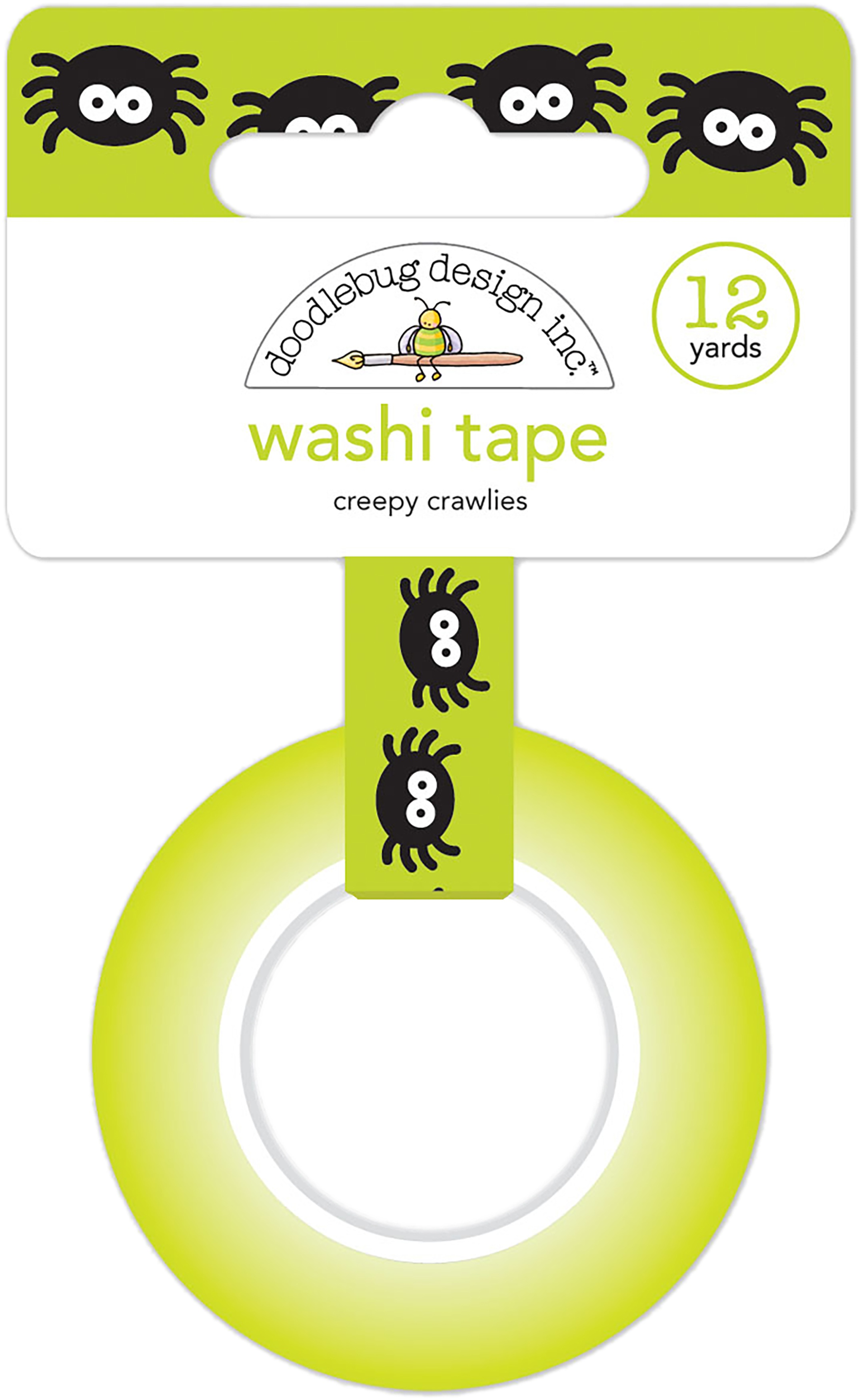 Doodlebug Washi Tape 15mmX12yd-Creepy Crawlies, Candy Carnival