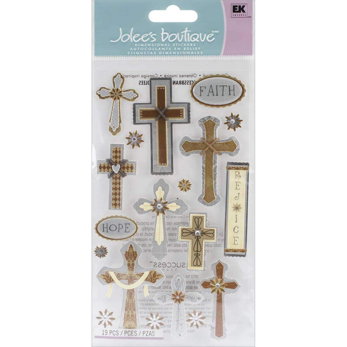 Jolee's Le Grande Dimensional Stickers-Faith, Hope & Rejoice
