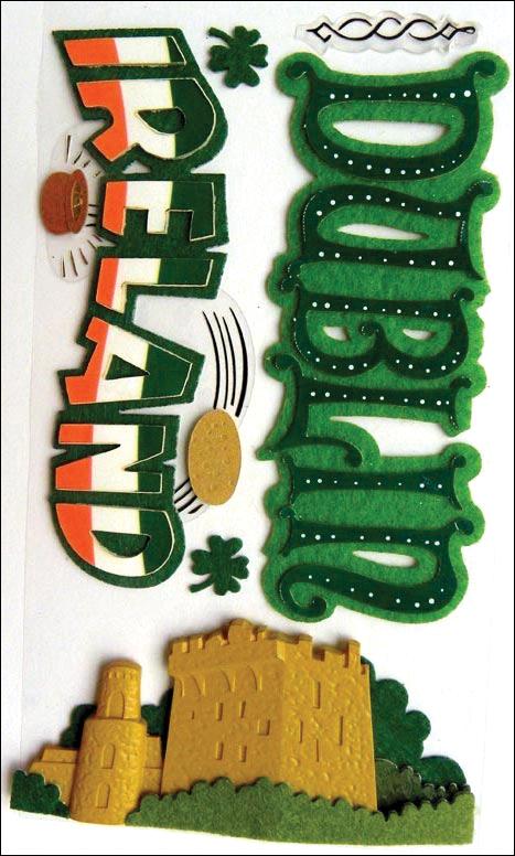 Jolee's Boutique Dimensional Stickers-Ireland