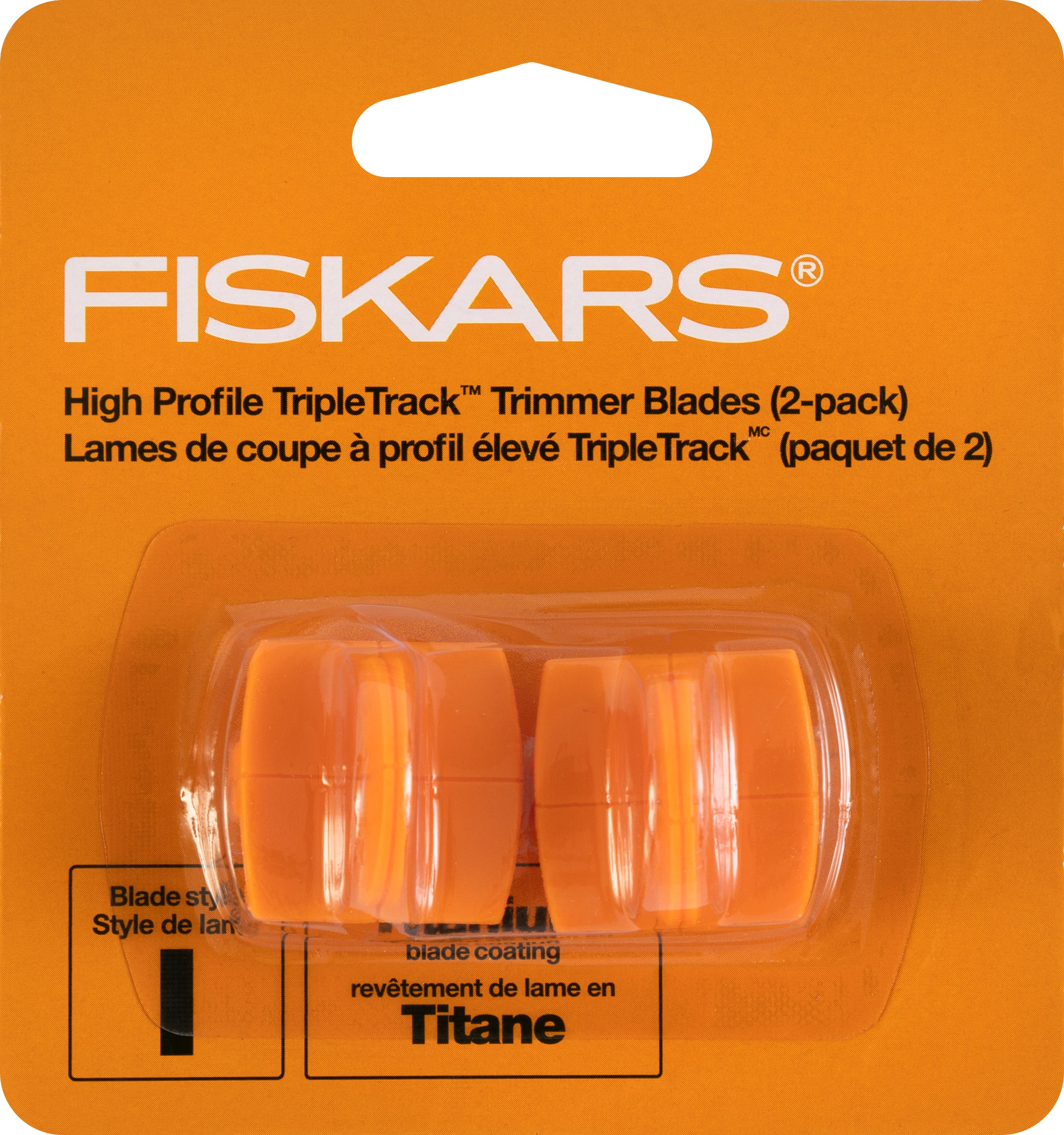 Fiskars TripleTrack High-Profile Titanium Blades 2/Pkg-Straight, Style I