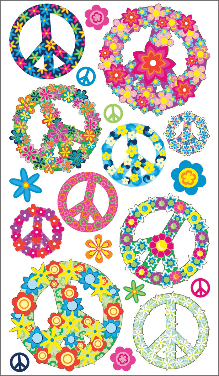EK Sticko Peace Symbol Stickers