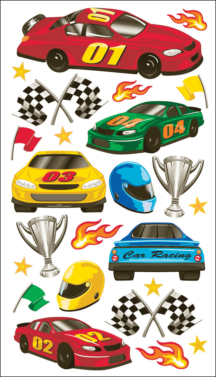 Sticko Stickers-Race Cars