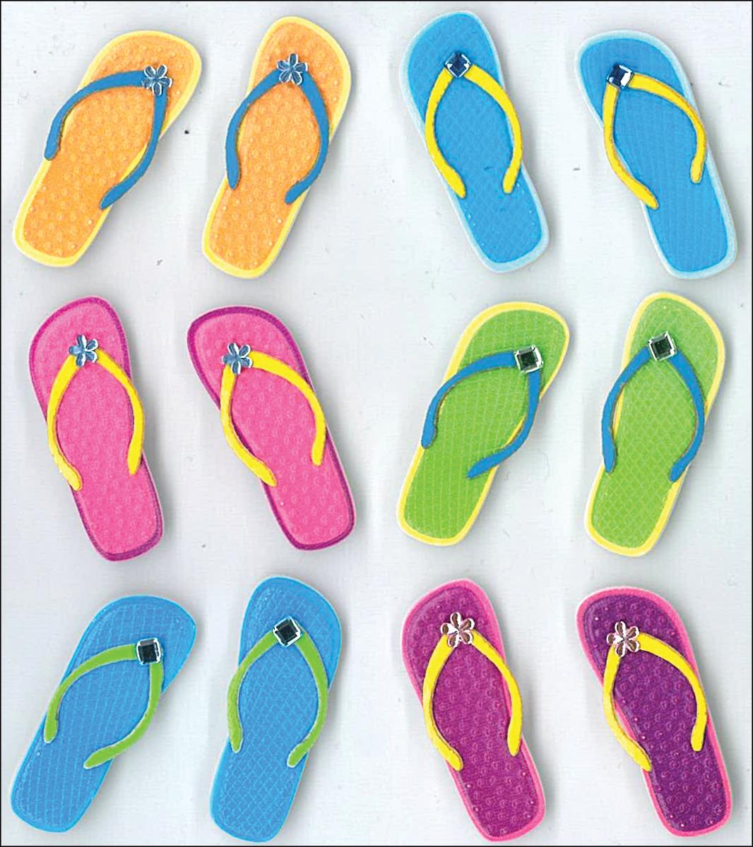 Flip-Flops Dimensional Stickers