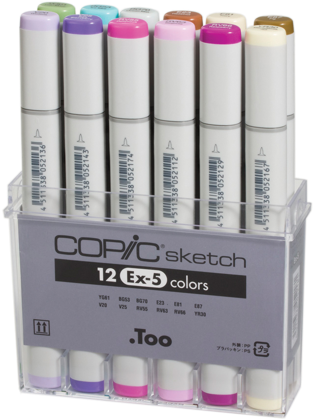 Copic Sketch Markers Set 12/Pkg-Ex-5