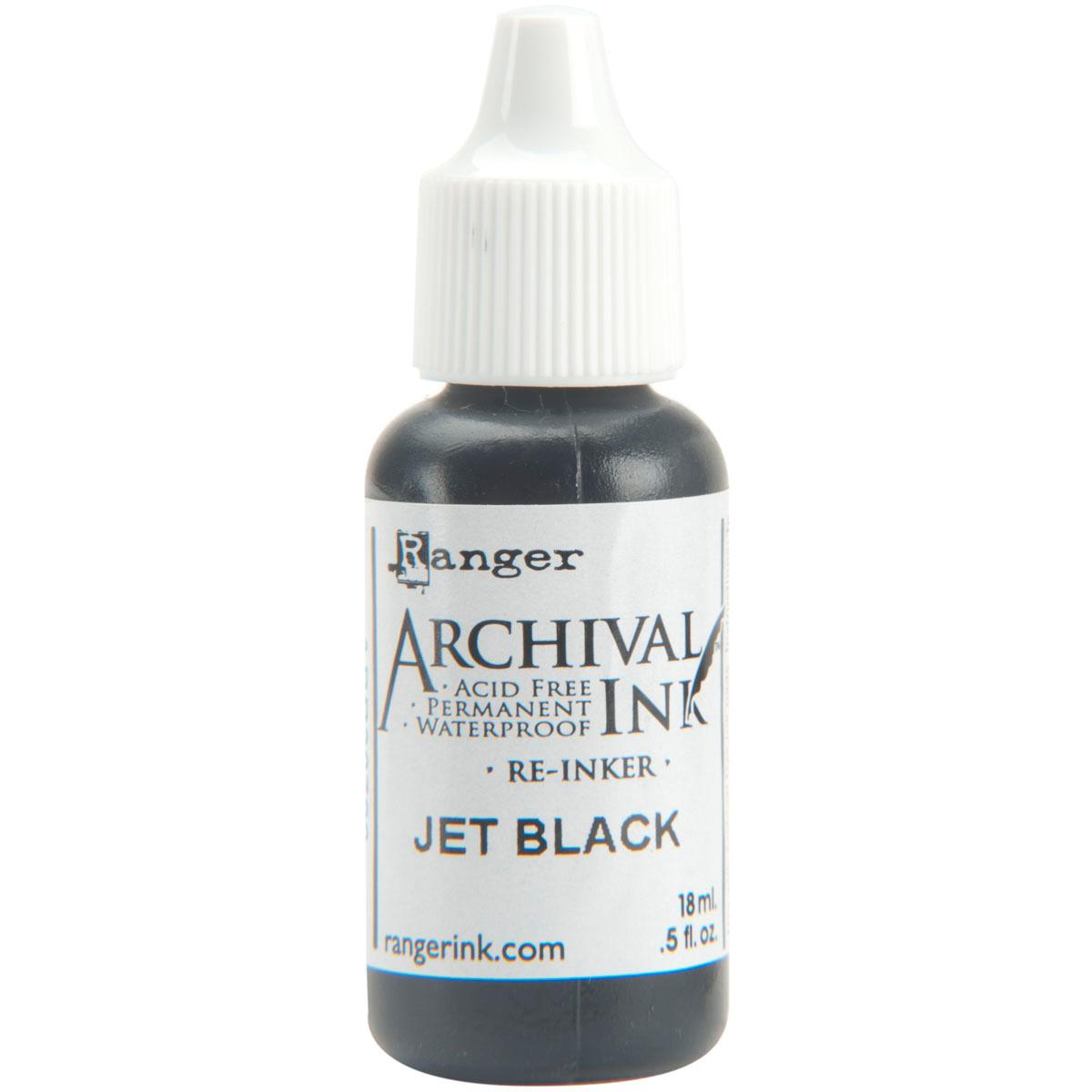 Ranger Archival Pad Reinker .5oz-Jet Black