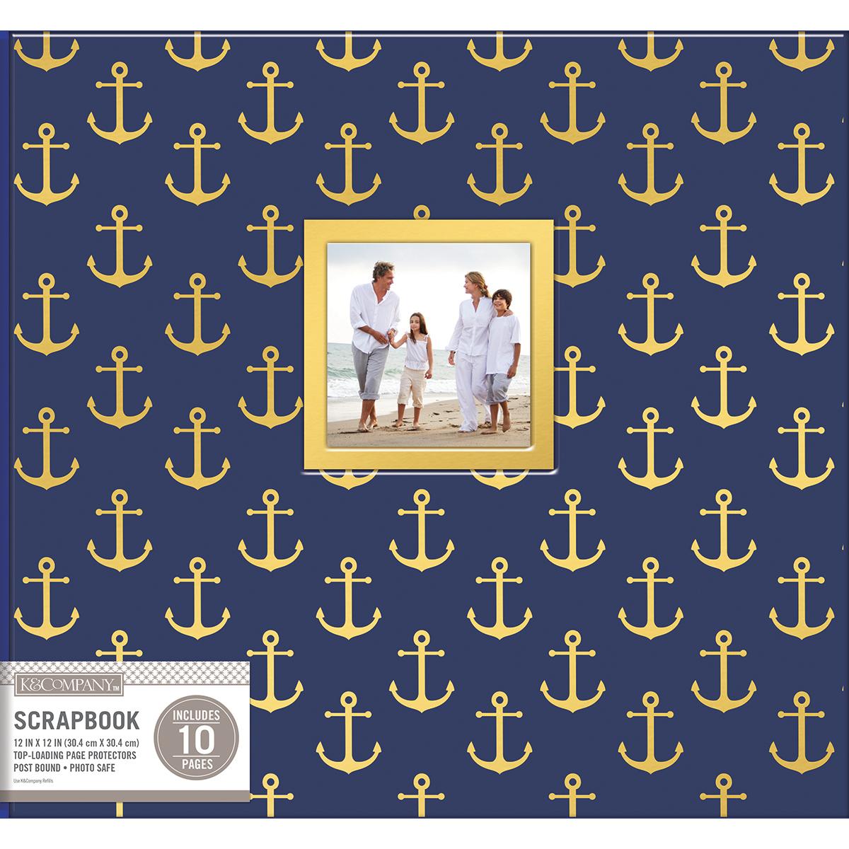 K&Company Post Bound Window Album 12X12-Nautical