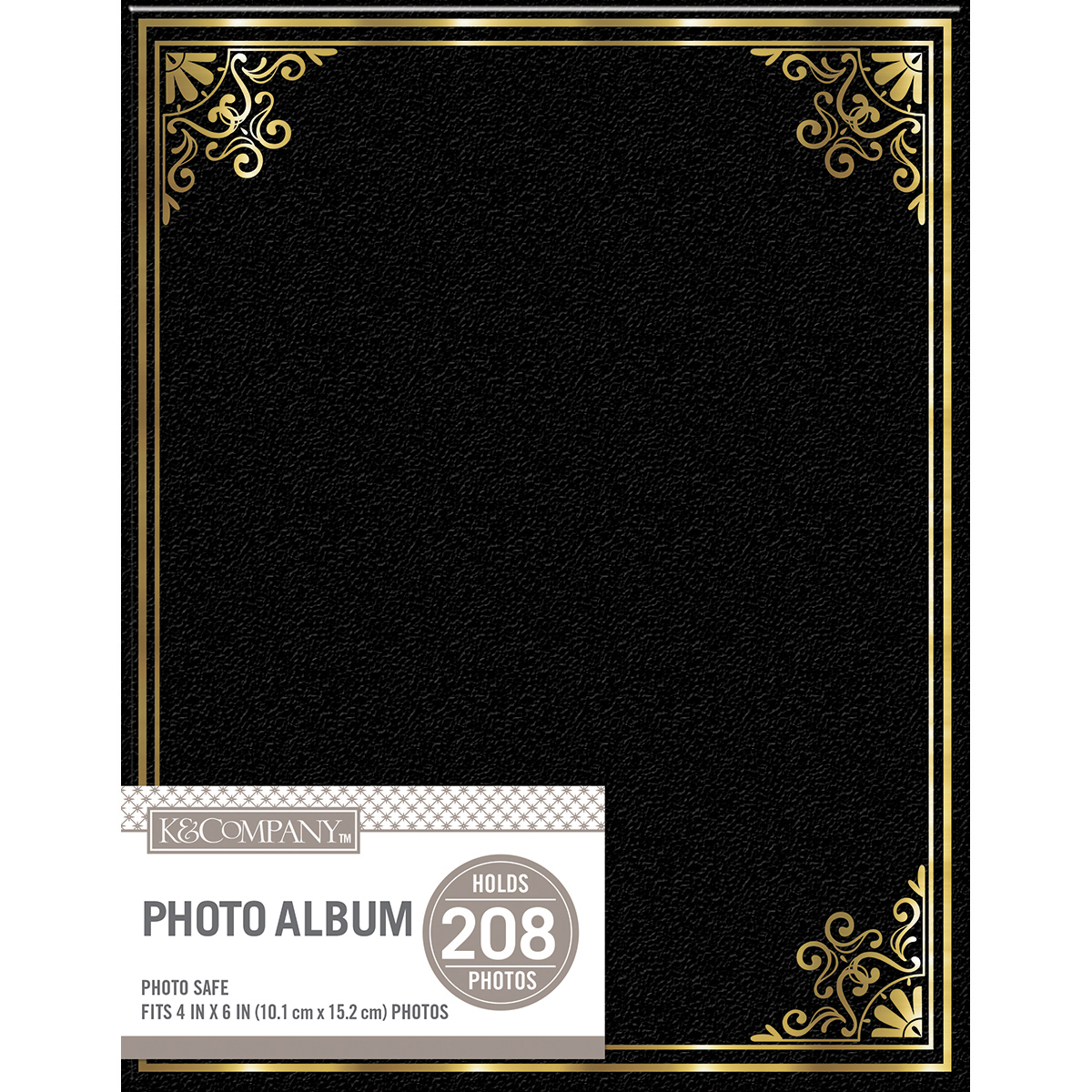 K&Company 2 Up Basic Photo Album 9X7-Black