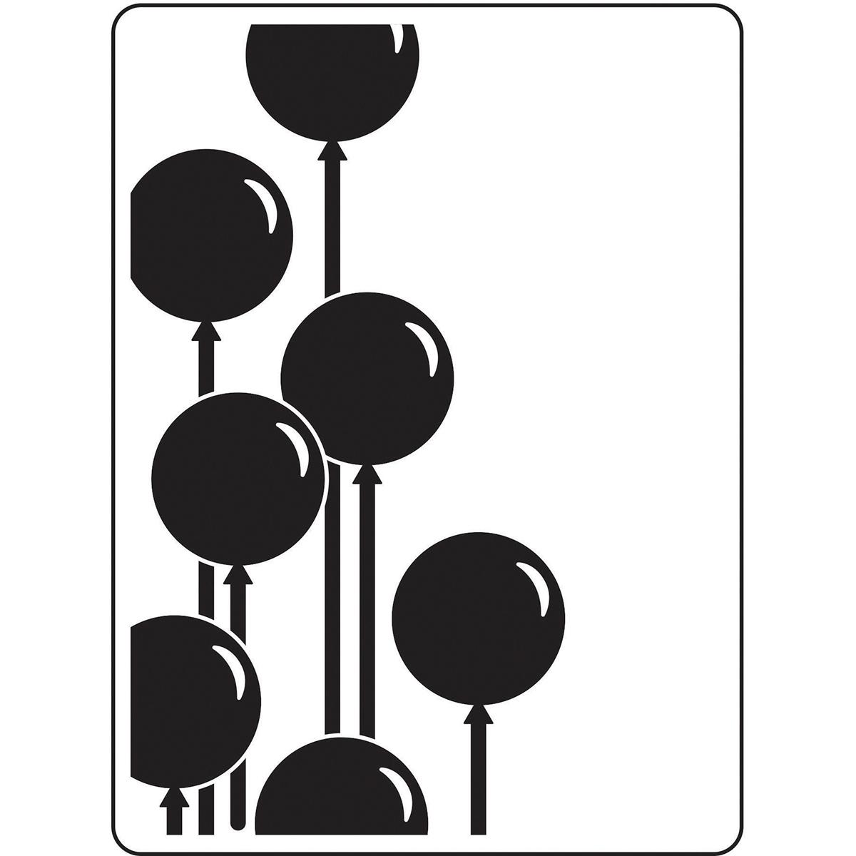 Embossing Folder 4.25X5.75-Balloons