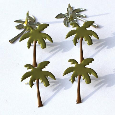 Eyelet Outlet Shape Brads 12/Pkg-Palm Trees #2