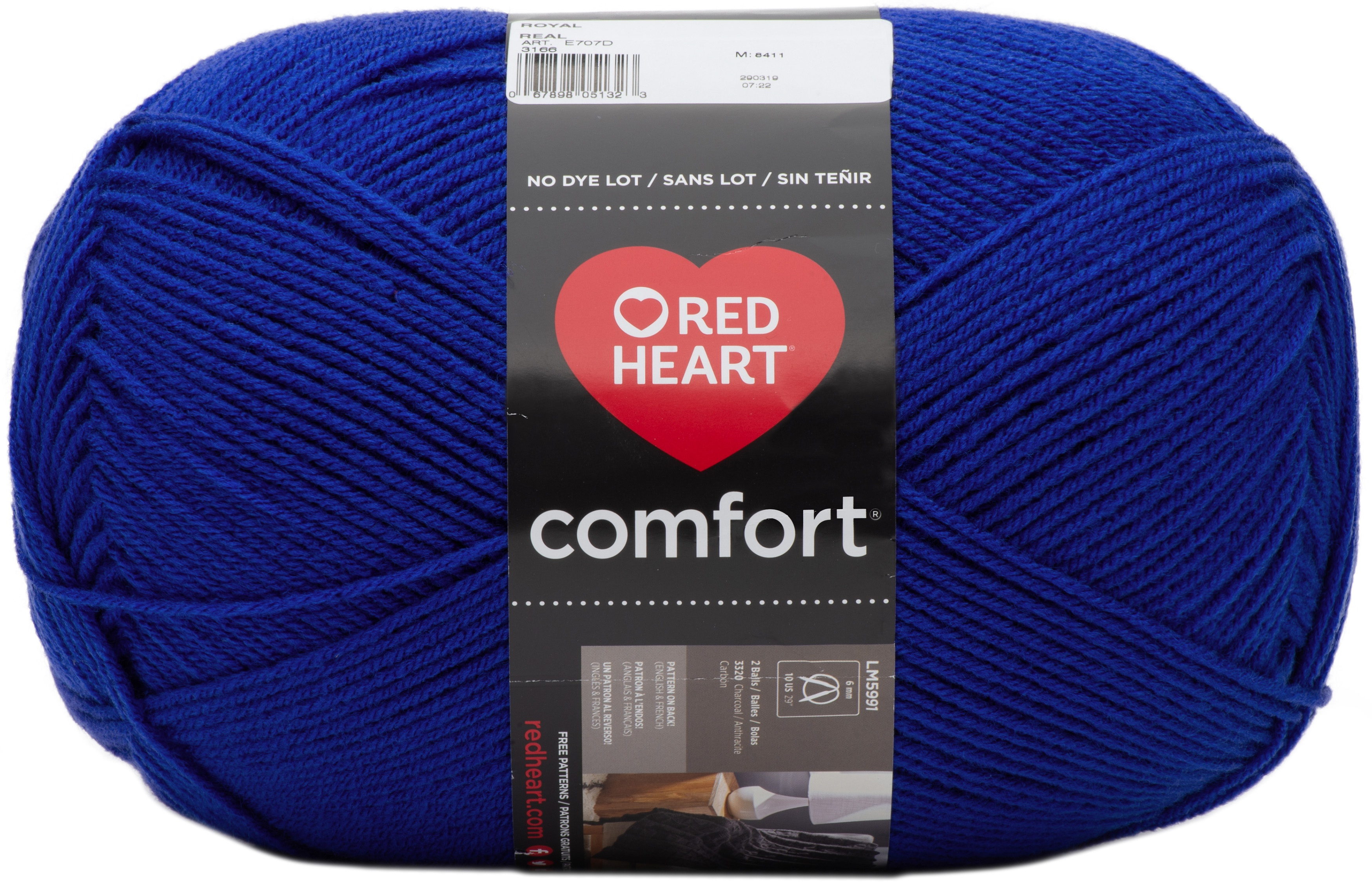Red Heart Comfort Yarn-Royal