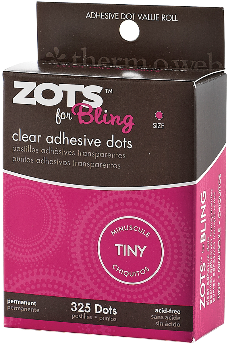 Zots Clear Adhesive Dots-Bling Tiny 1/8 325/Pkg