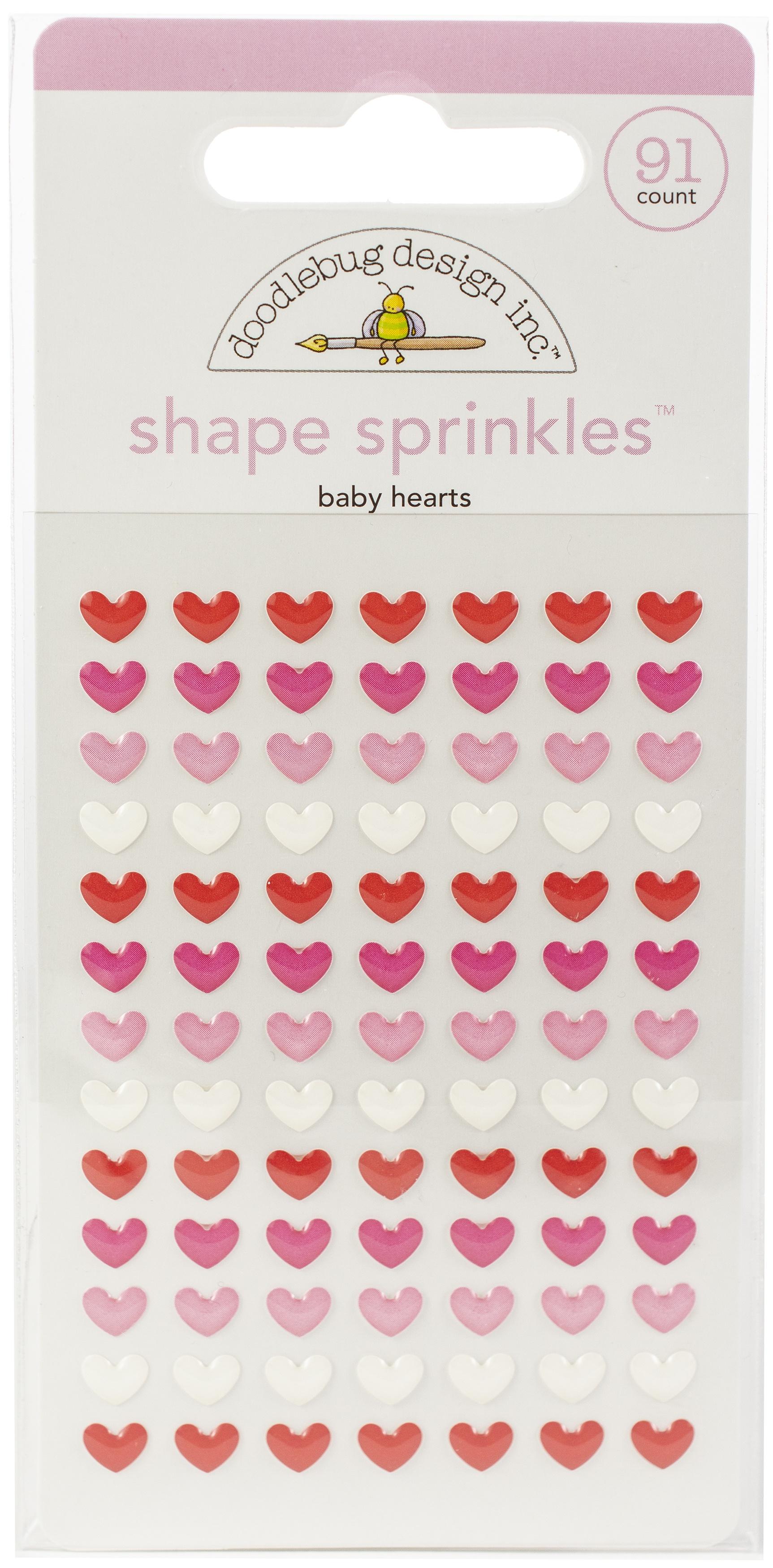 Doodlebug Shape Sprinkles Baby Hearts