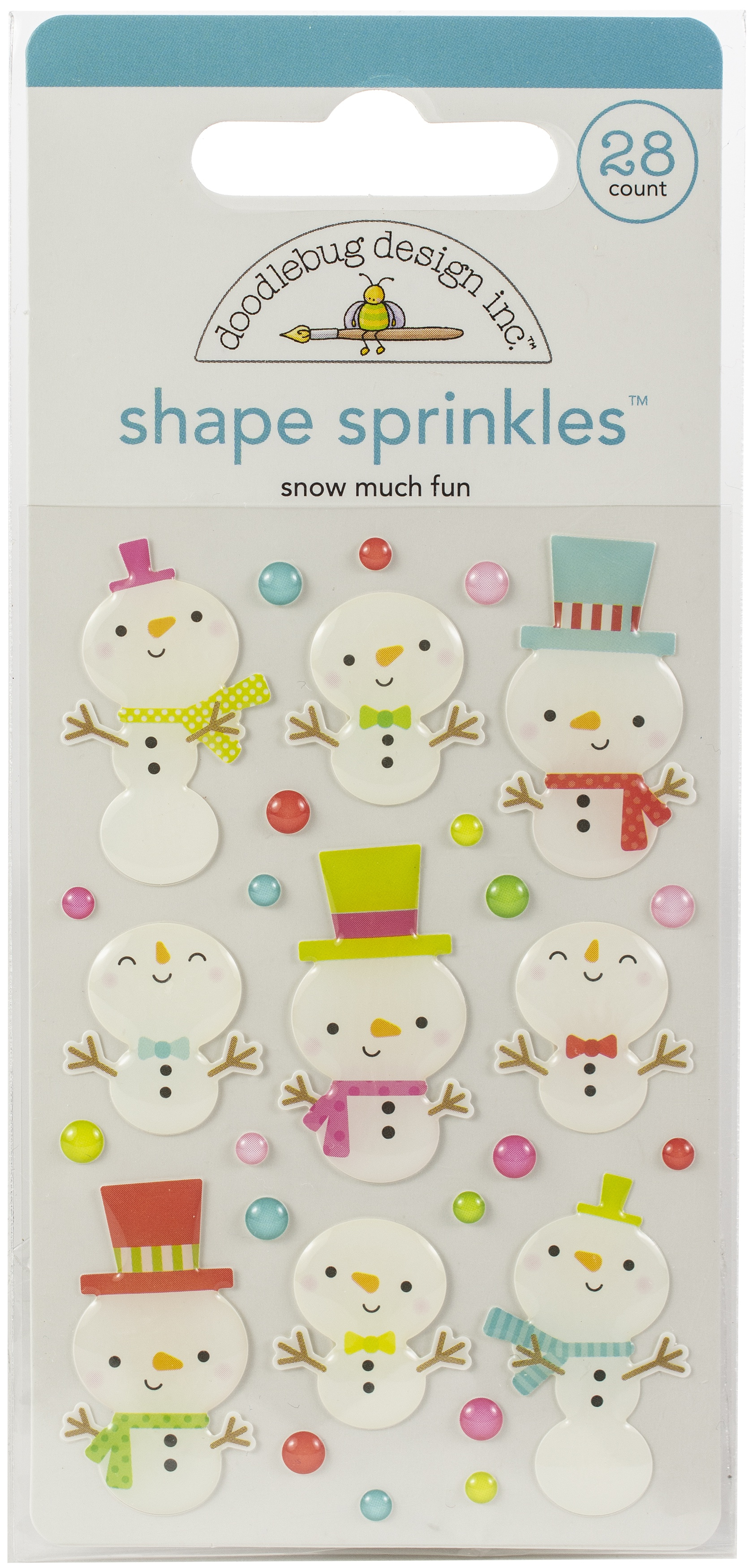 EMB - CHRISTMAS TOWN SHAPE  SPRINKLES SNOW MUCH FUN