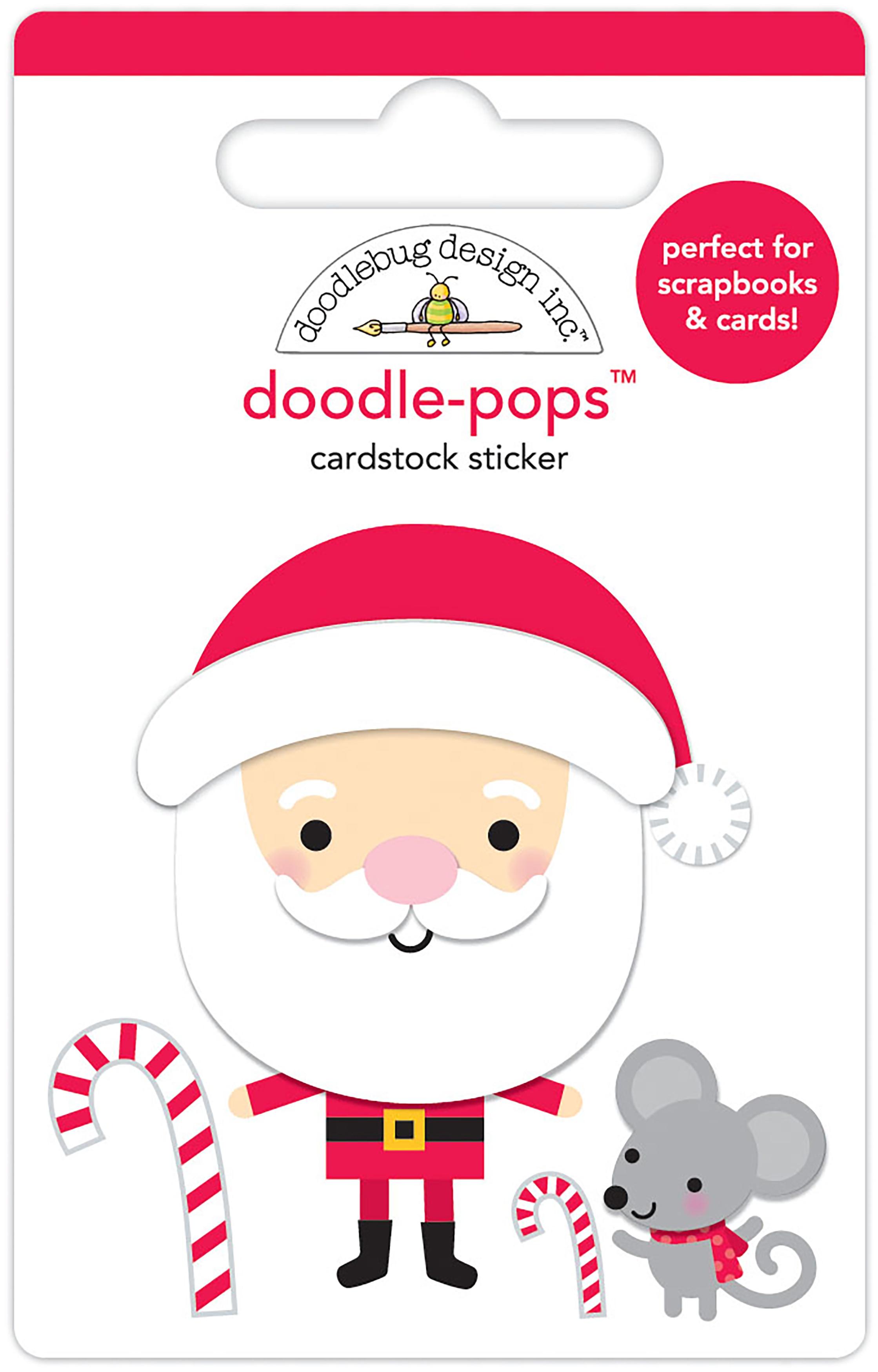 Doodlebug Doodle-Pops 3D Stickers-Sweet Santa, Christmas Magic