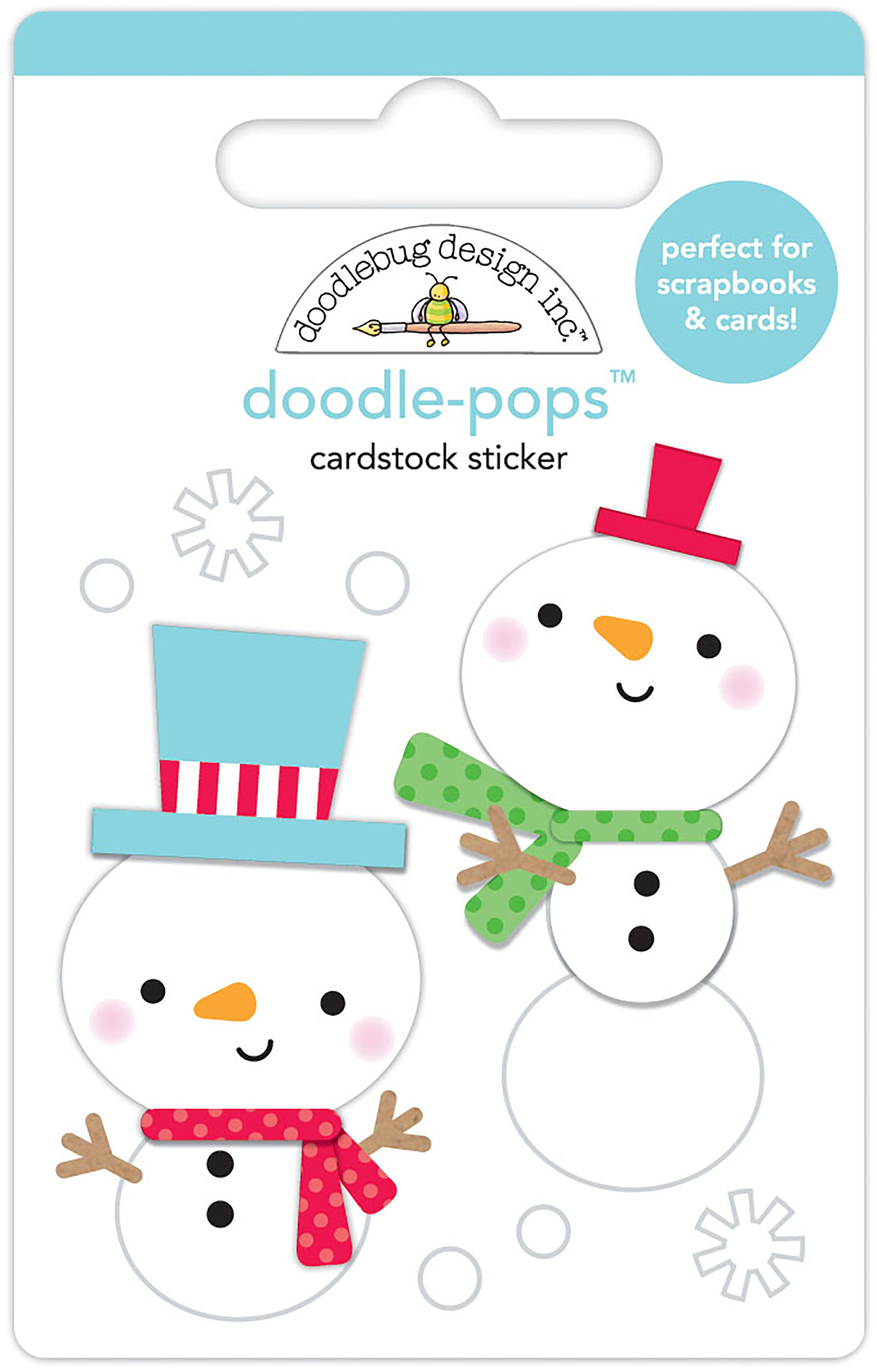 Doodlebug Doodle-Pops 3D Stickers-Snow Buddies, Christmas Magic