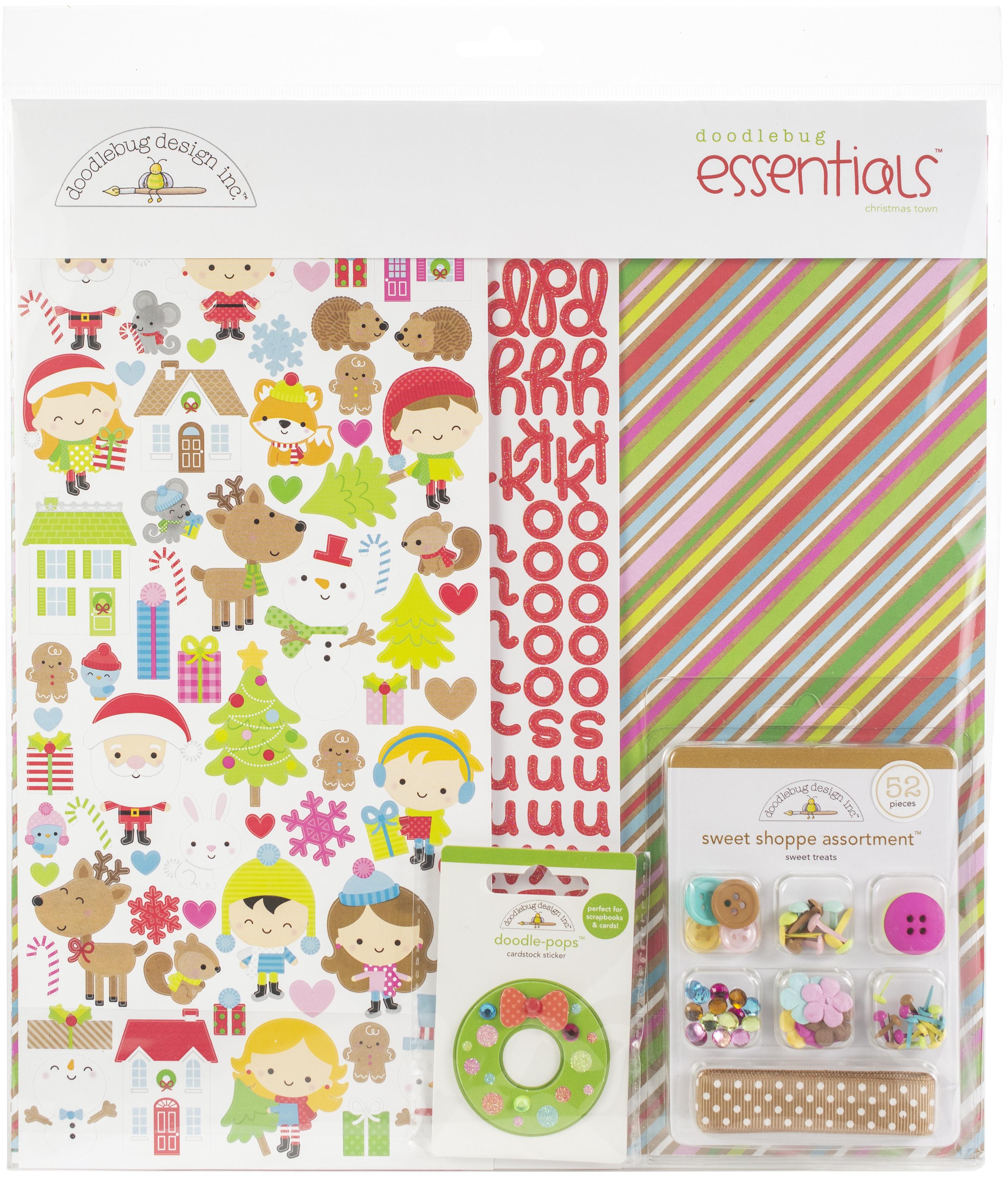 ^Doodlebug Essentials Page Kit 12X12-Christmas Town