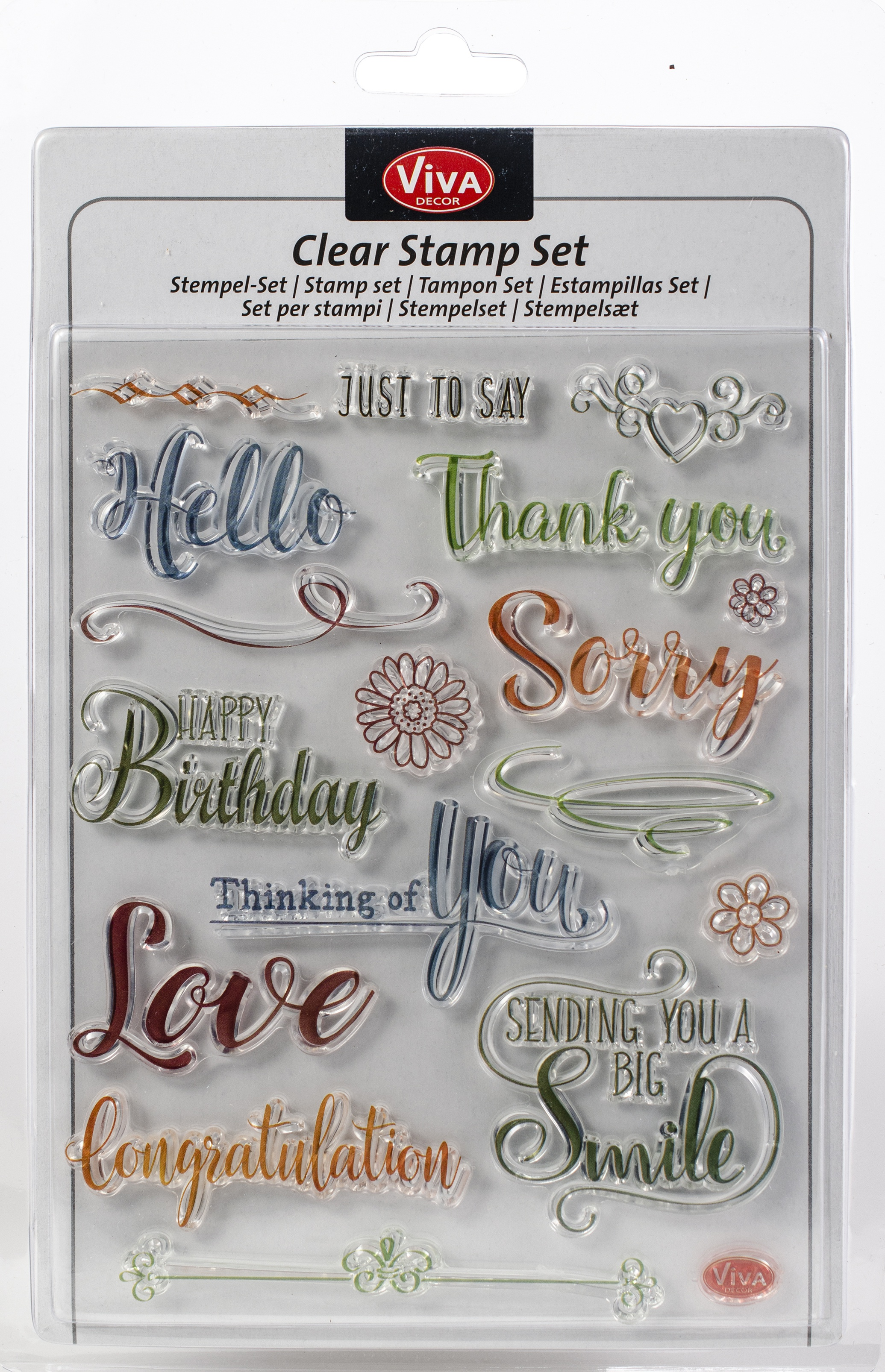 Viva Decor Clear Stamp Set 14cmX18cm-Just To Say
