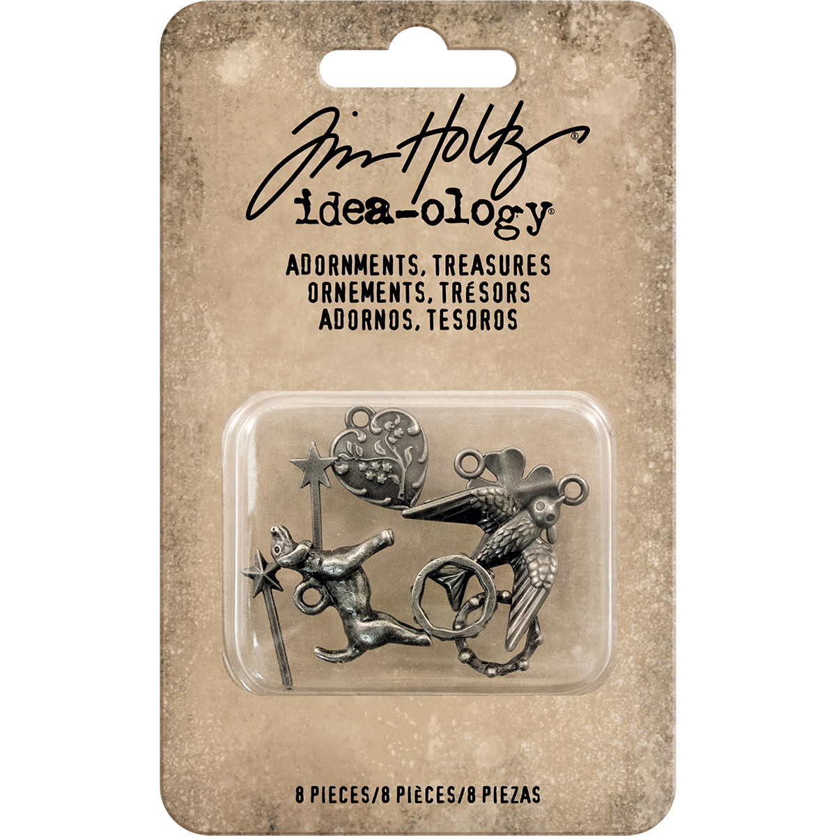 Idea-Ology Metal Adornments 8/Pkg-Treasures Charms & Accents .375 To 875