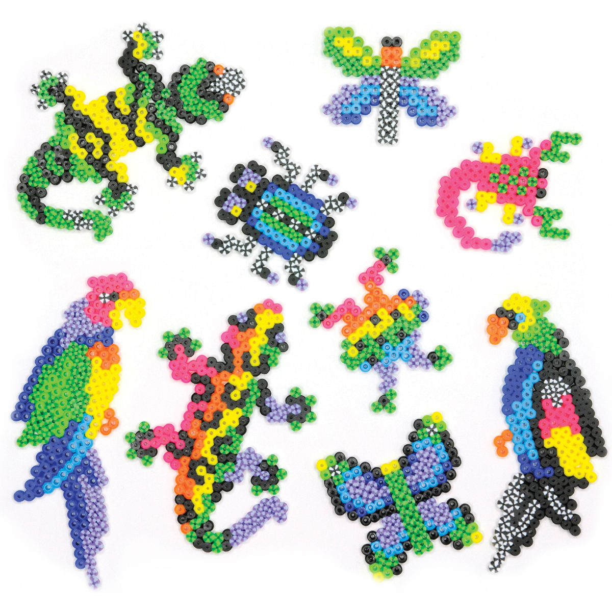 Perler Fused Bead Kit-Rare Bugs 'n Birds