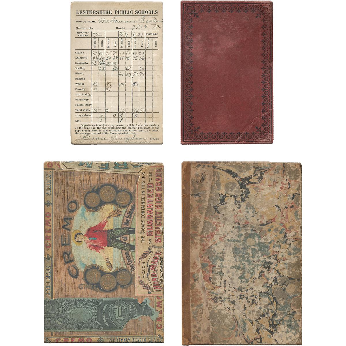 Idea-Ology Bookboard Baseboards 4/Pkg-Salvaged (2) 3X5 & (2) 4X6