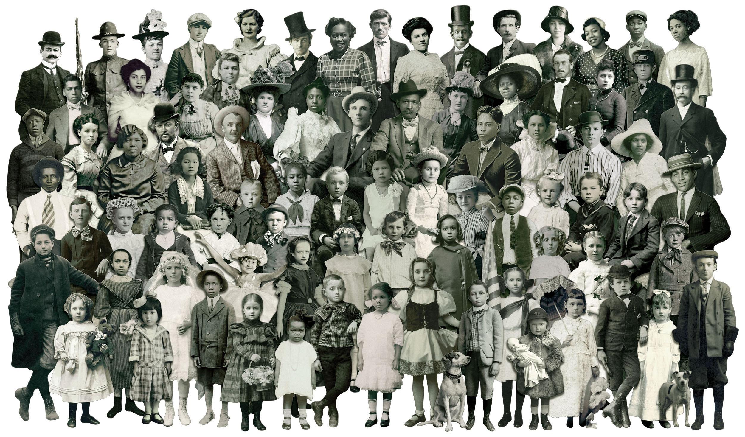 Idea-Ology Paper Dolls Die-Cuts 107/Pkg-Vintage Black & White .75 To 5.5