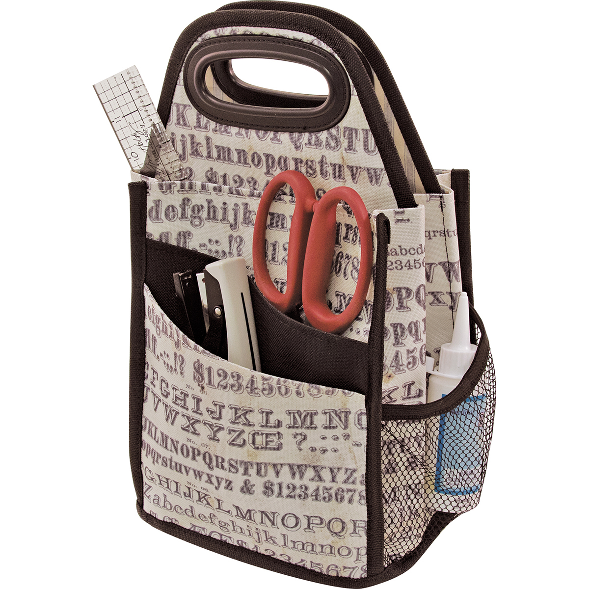 Tim Holtz Typography Spinning Craft Tote