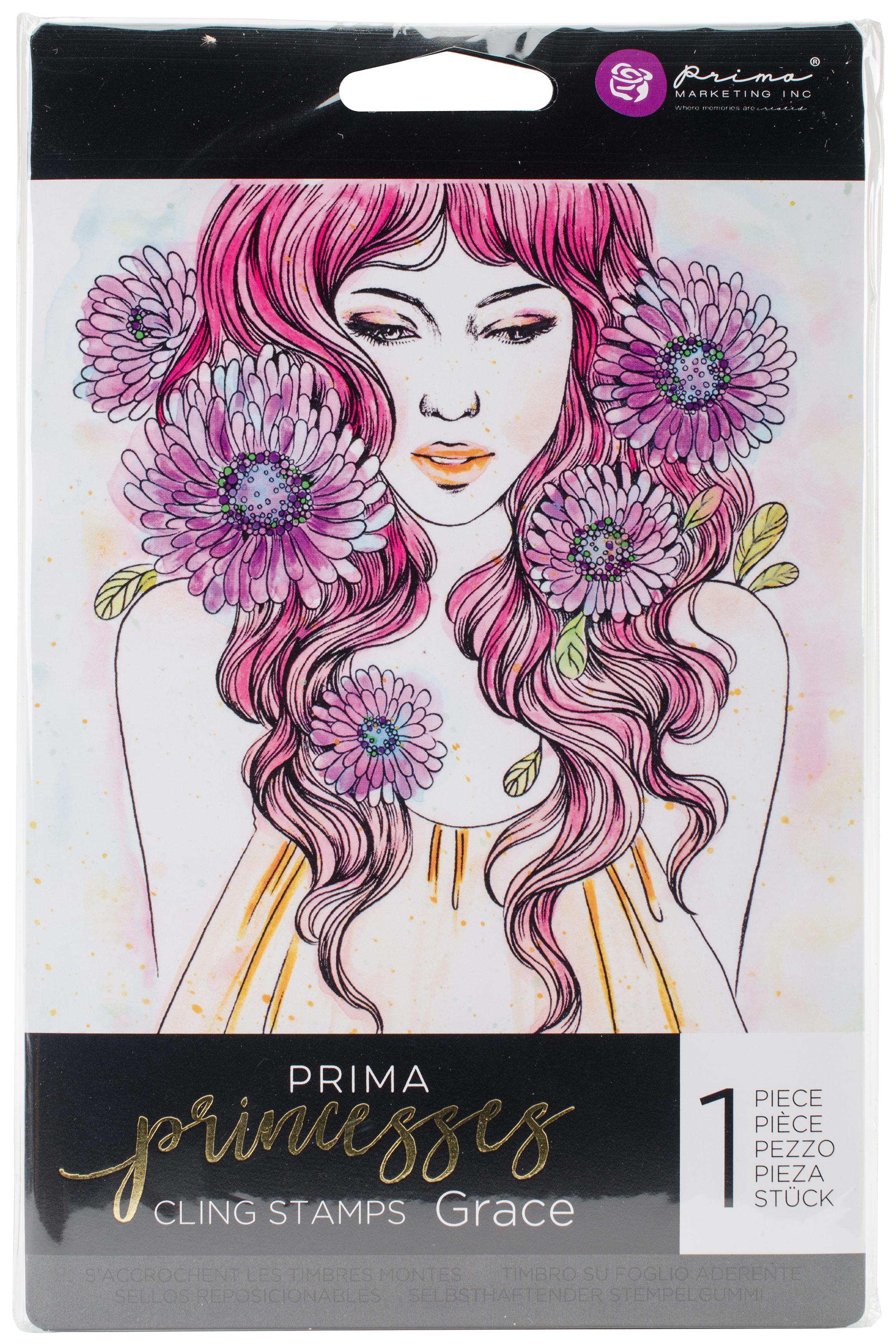 Prima Marketing Princesses Cling Stamp 5X7-Grace