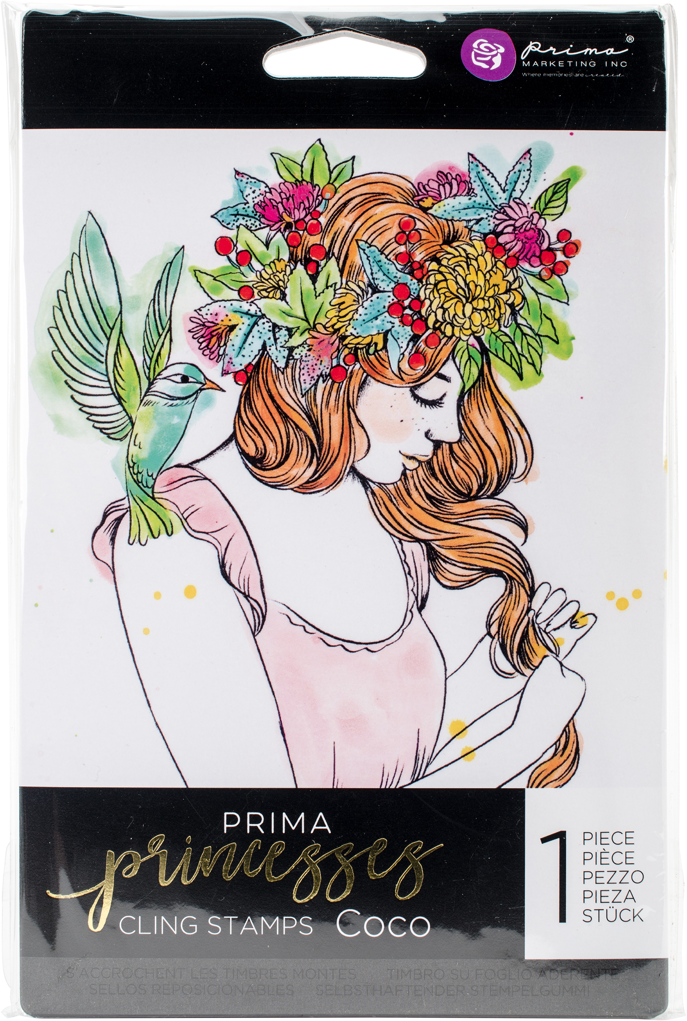 Prima Marketing Princesses Cling Stamp 5X7-Coco