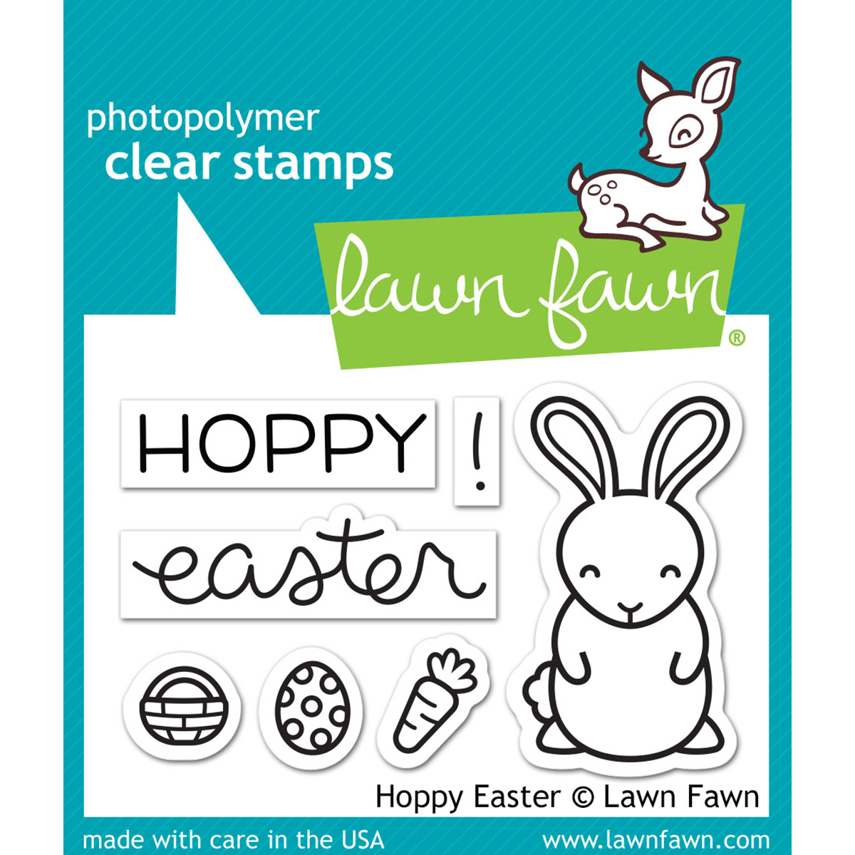 Lawn Fawn Clear Stamp and Die Bundle 3X2-Hoppy Easter