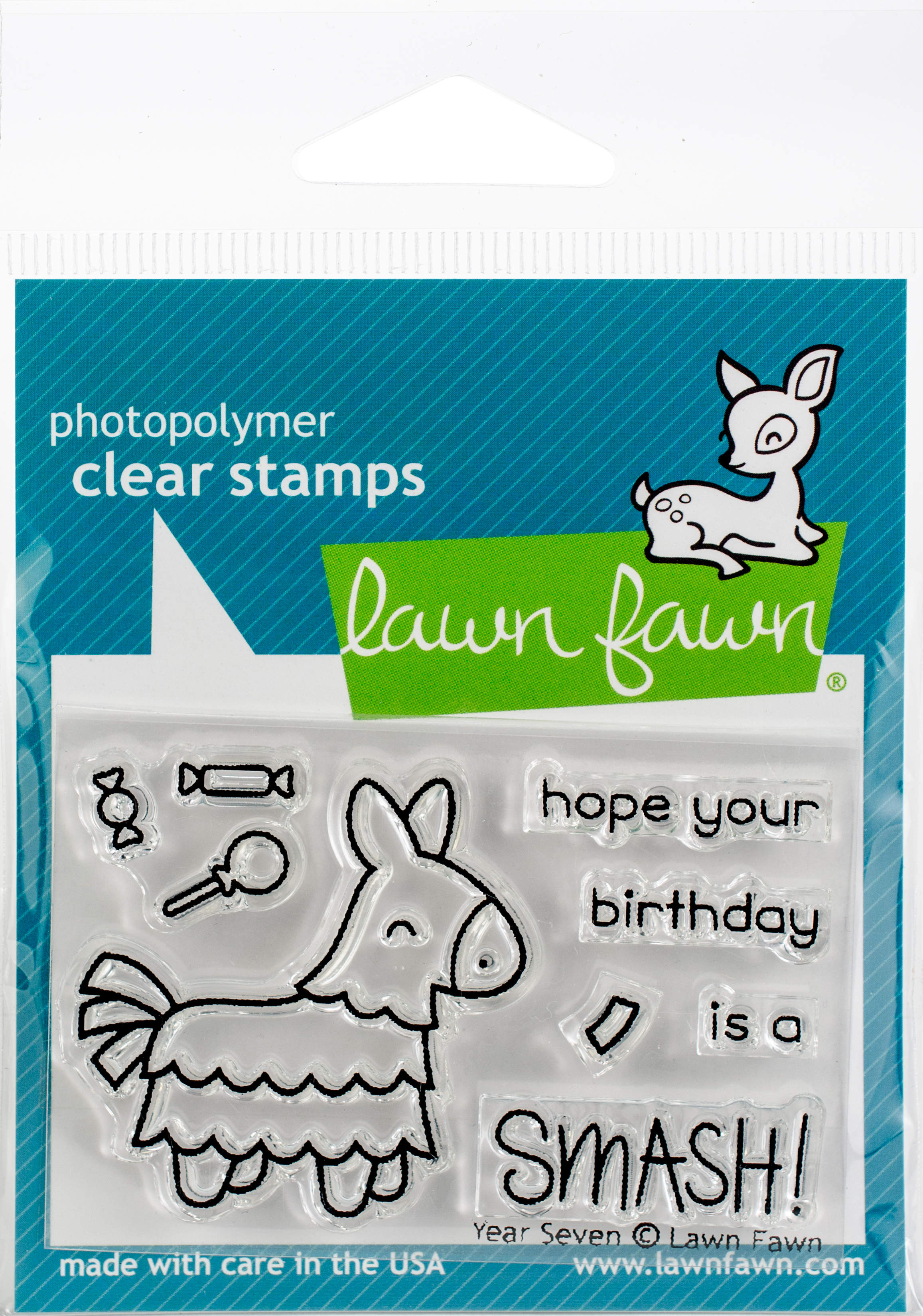 Lawn Fawn Clear Stamps 3X2-Year Seven