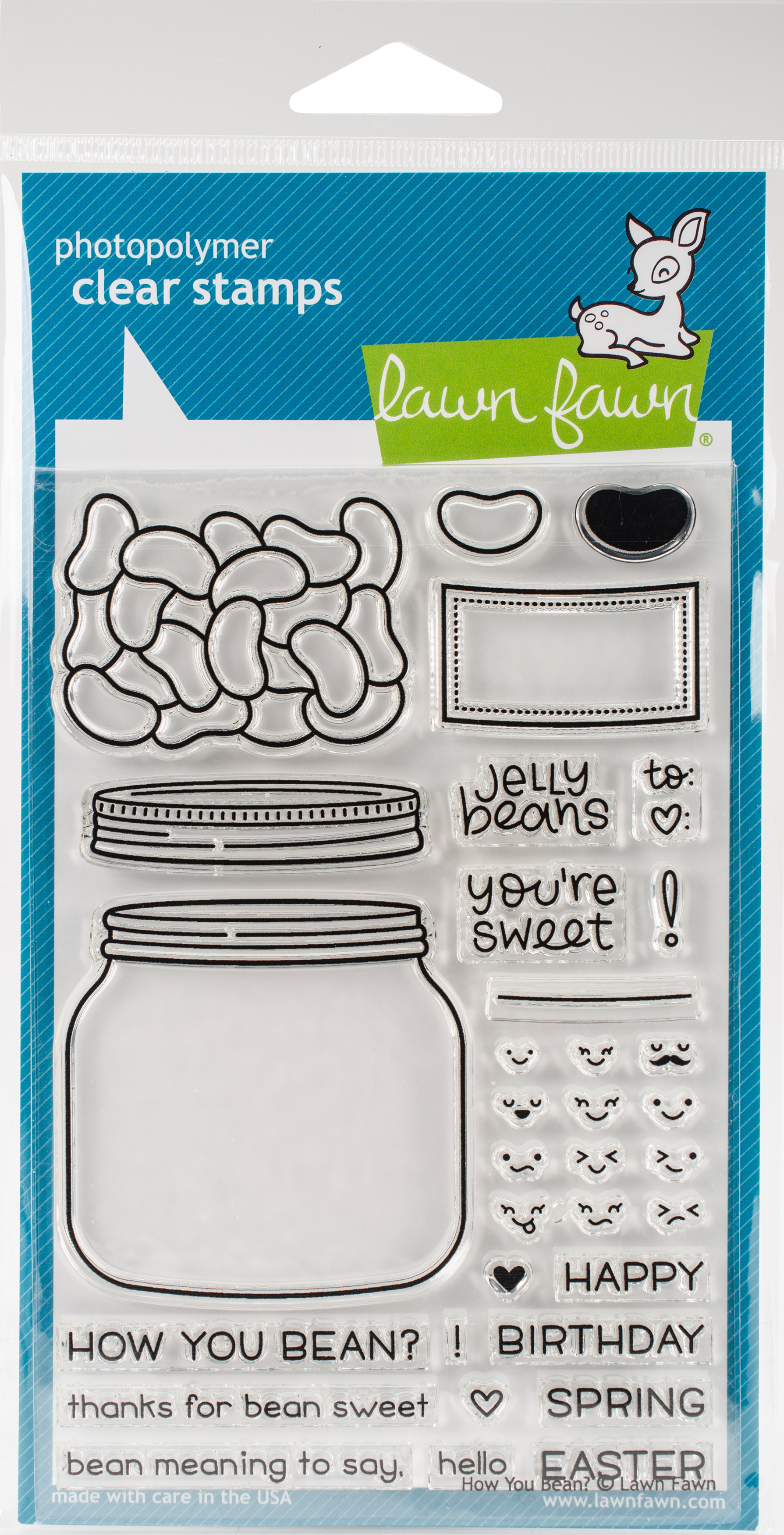 Lawn Fawn Clear Stamps 4X6-How You Bean?