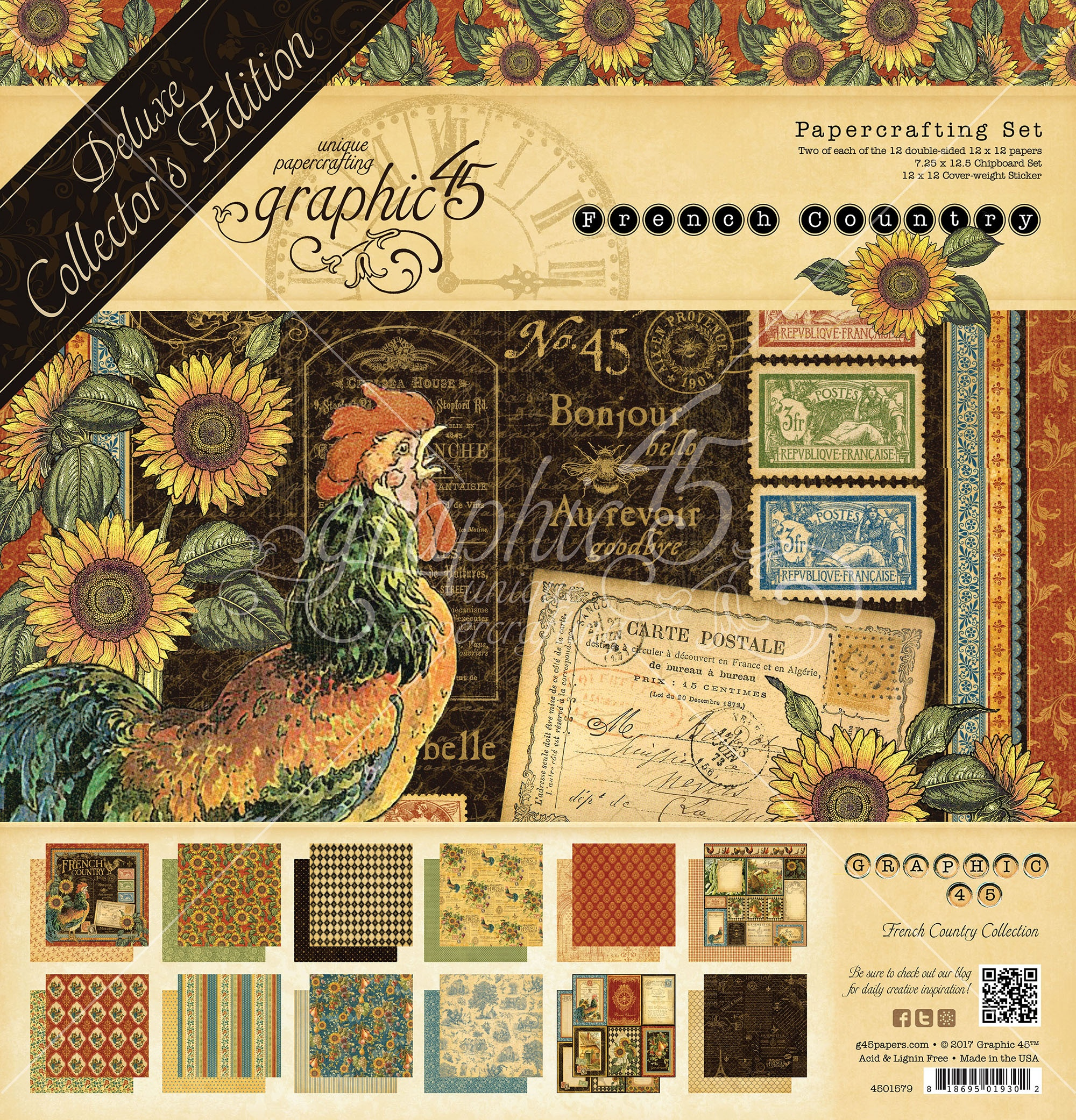 Graphic 45 Deluxe Collector's Edition Pack 12X12-French Country