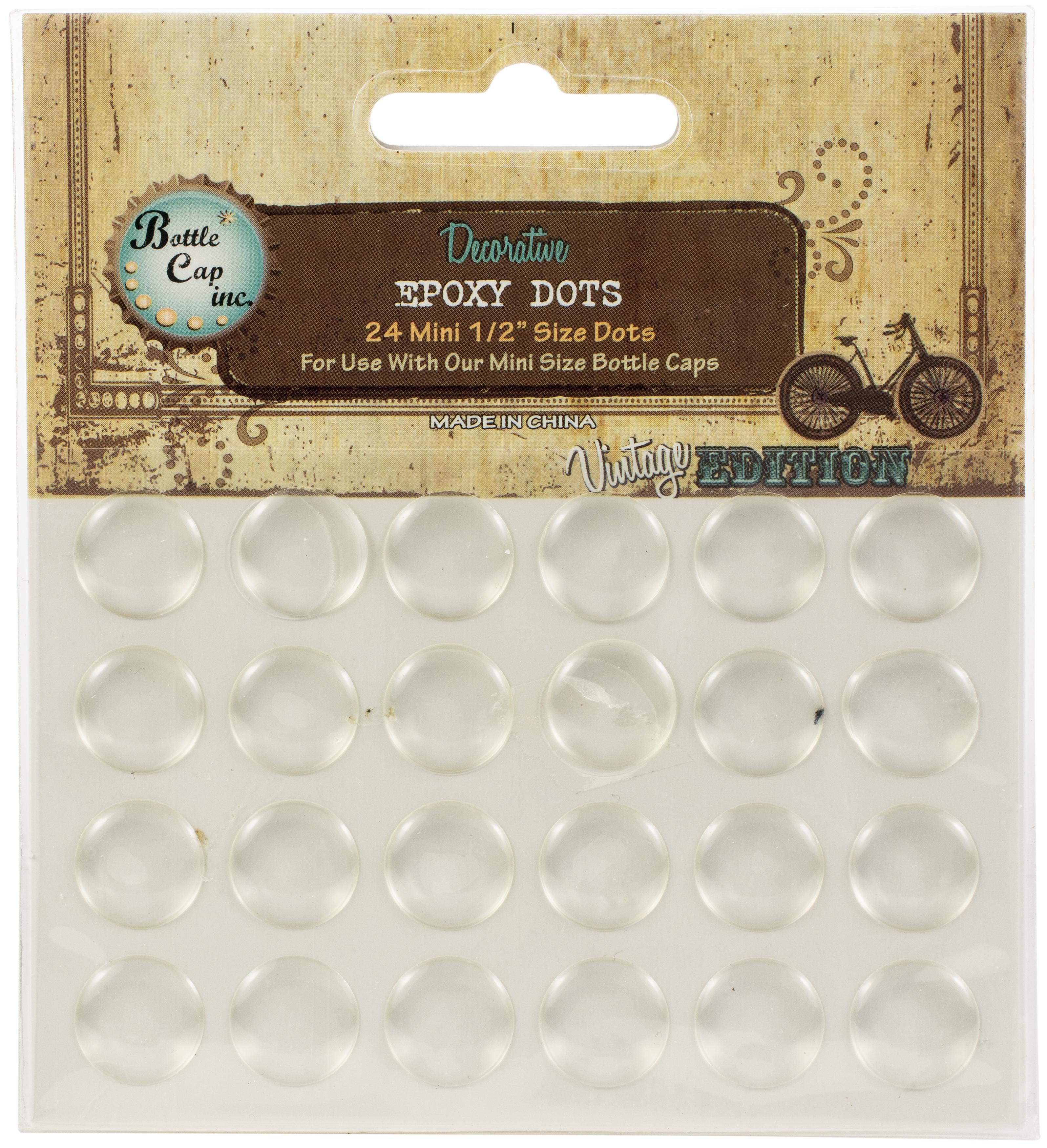 Vintage Epoxy Dot Clear Stickers .5 24/Pkg-Round