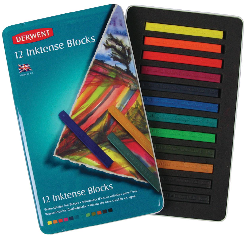 Derwent Inktense Blocks 12/Pkg-