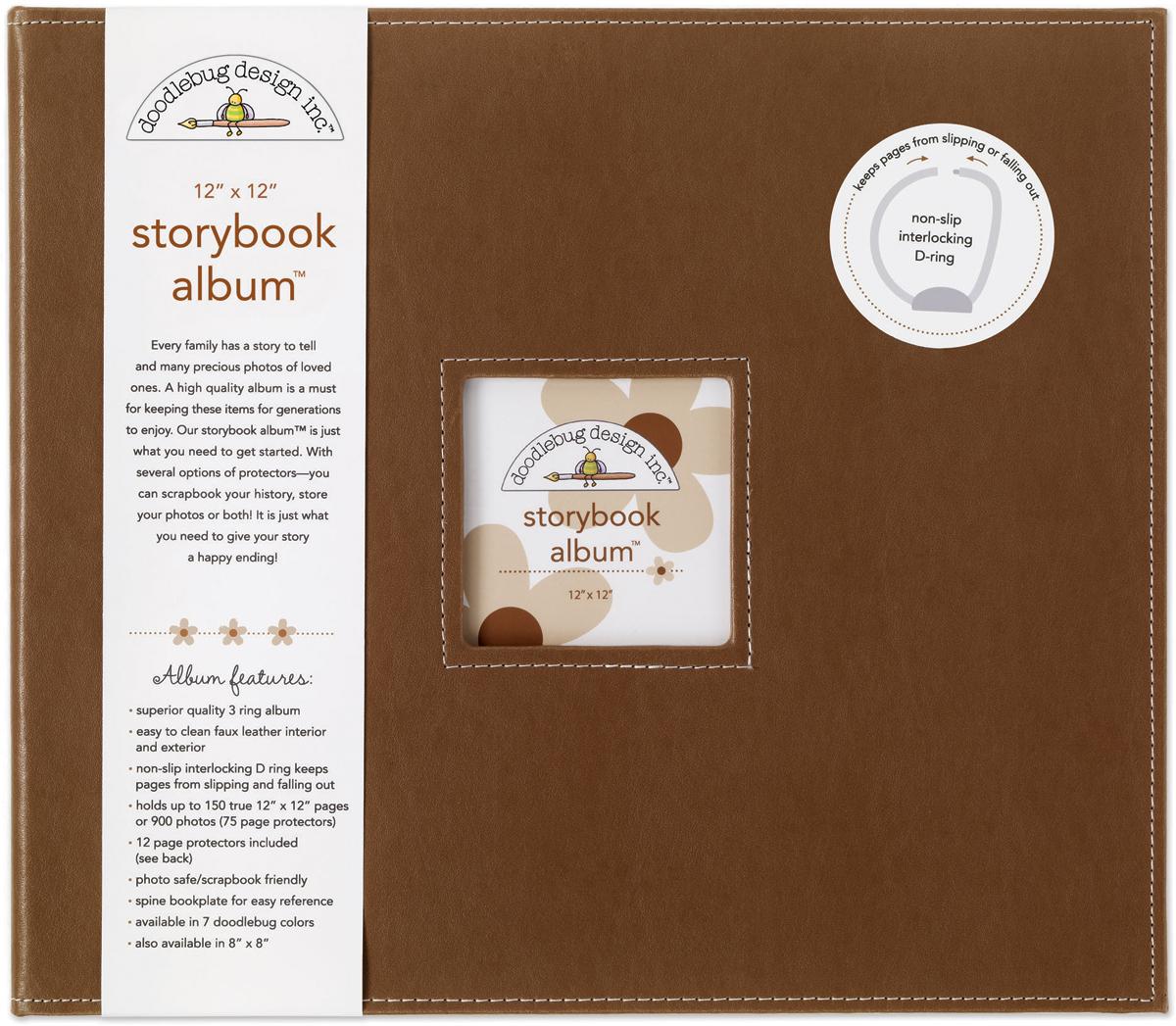 Doodlebug Storybook D-Ring Album 12X12-Bon Bon